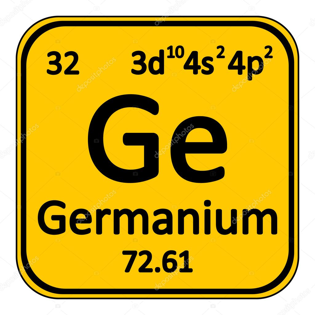 Periodic table element germanium icon stock vector konstsem periodic table element germanium icon on white background vector illustration vector by konstsem gamestrikefo Images