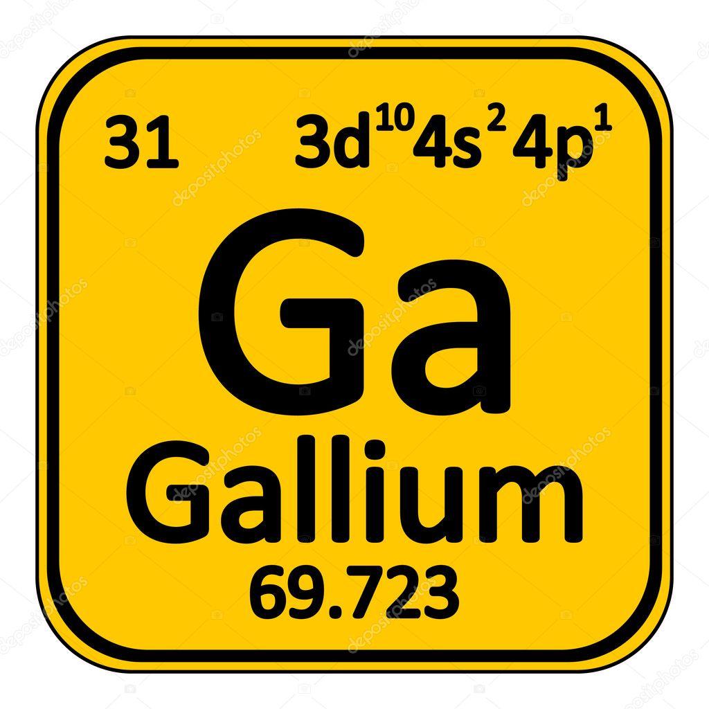 icono de tabla periodica elemento galio vector de stock - Tabla Periodica De Los Elementos Galio