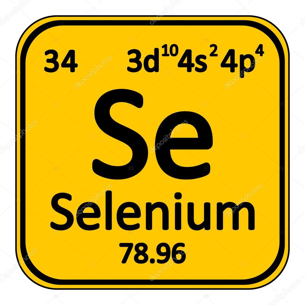 Icono de selenio de elemento de tabla peridica vector de stock tabla periodica elemento selenio el icono sobre fondo blanco ilustracin de vector vector de konstsem urtaz Image collections