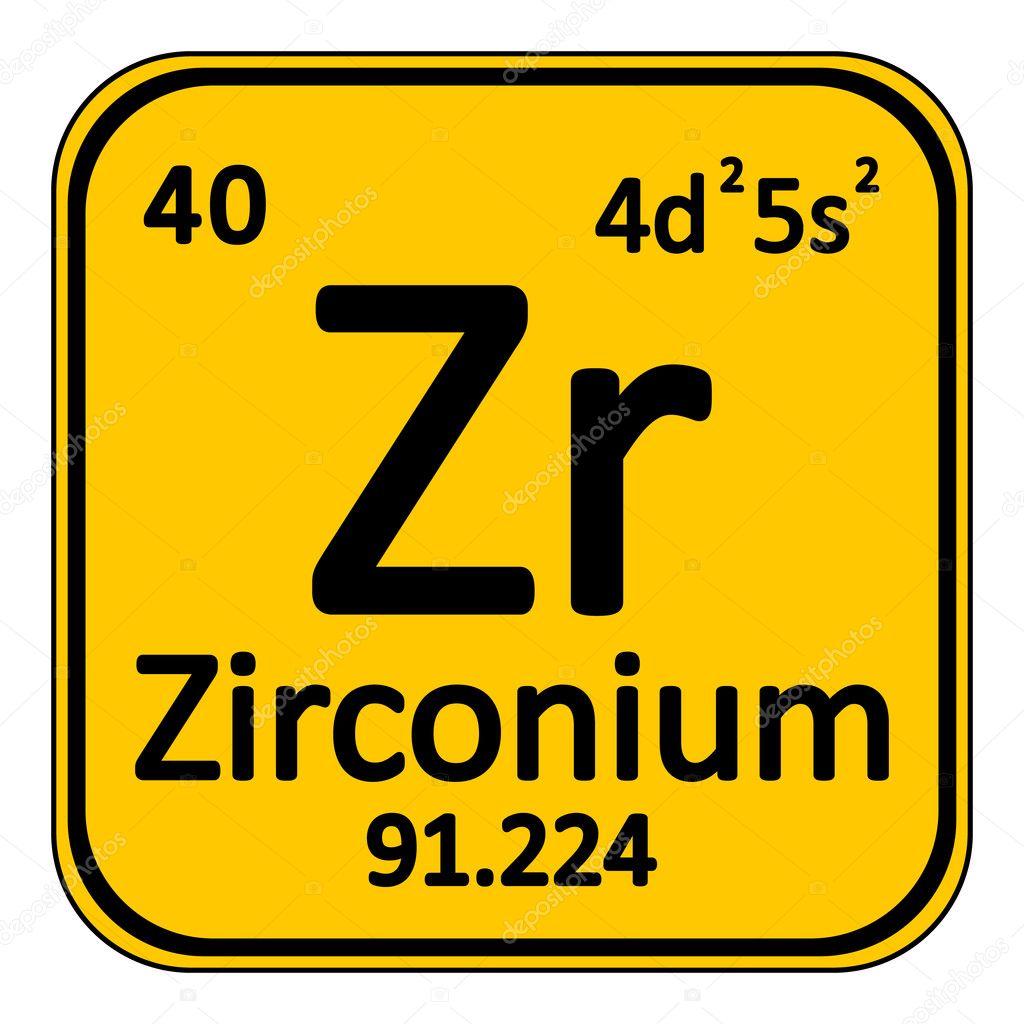 Icono de circonio de elemento de tabla peridica vector de stock tabla periodica elemento zirconio el icono sobre fondo blanco ilustracin de vector vector de konstsem urtaz Choice Image