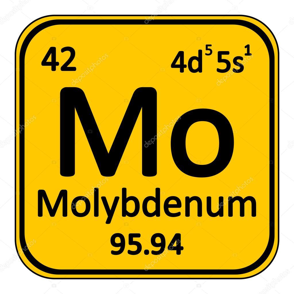 Icono de molibdeno de elemento de tabla peridica archivo imgenes tabla periodica elemento molibdeno el icono sobre fondo blanco ilustracin de vector vector de konstsem urtaz Images