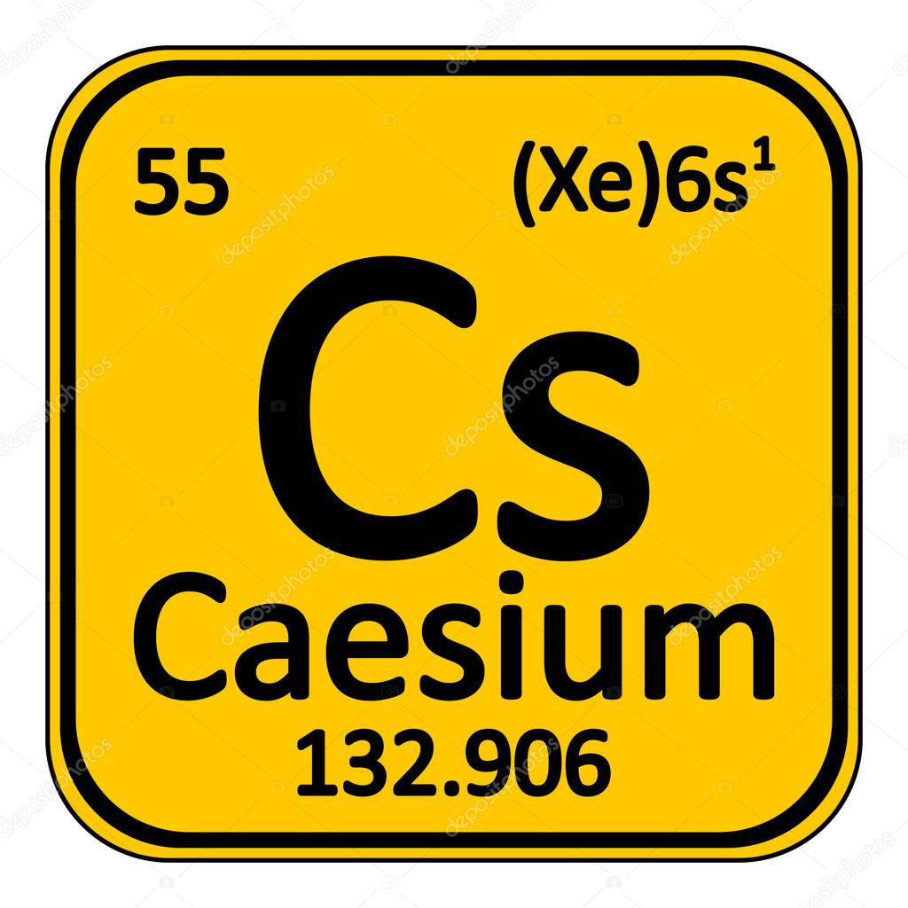 Periodic table element caesium icon stock vector konstsem periodic table element caesium icon on white background vector illustration vector by konstsem gamestrikefo Gallery