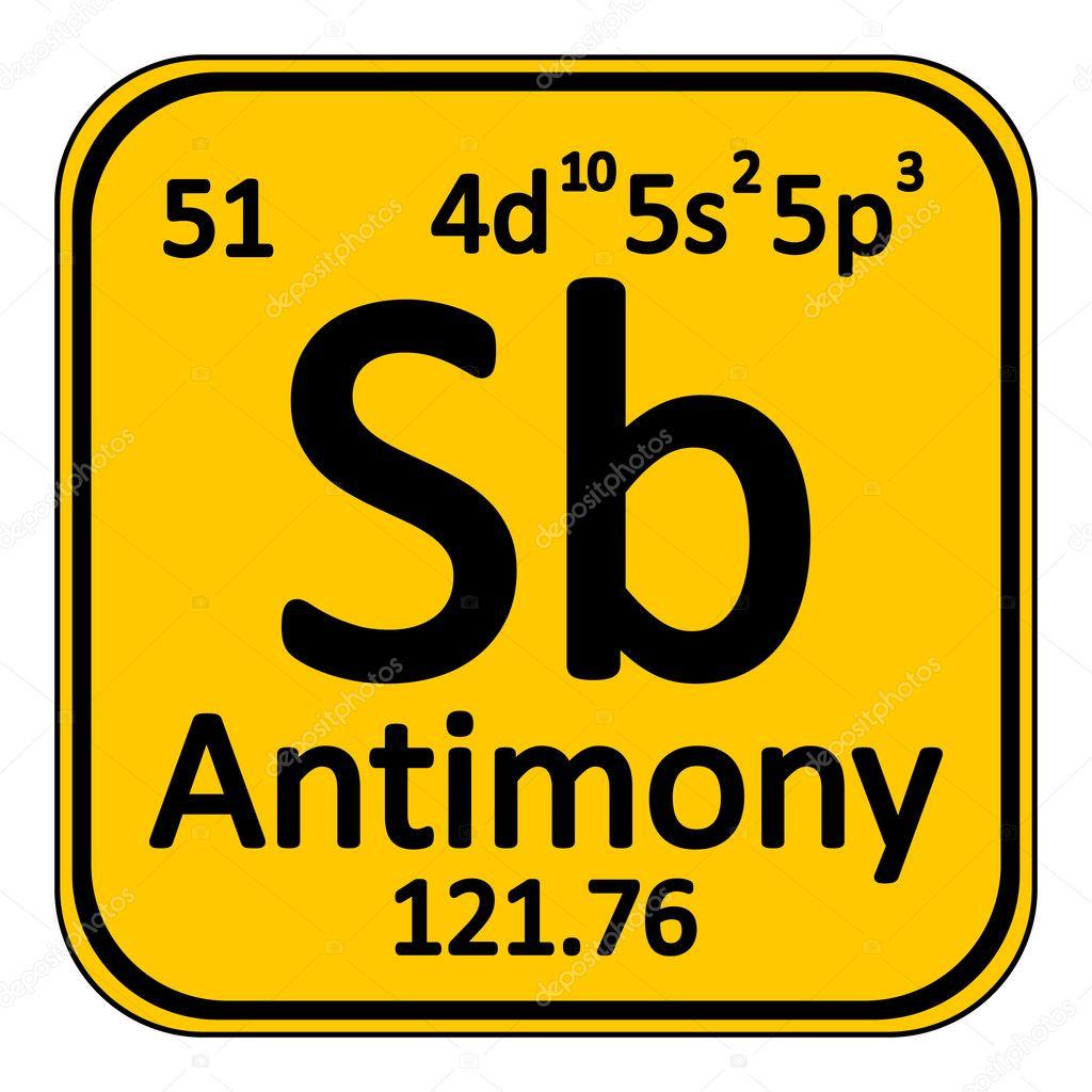Icono de antimonio de elemento de tabla peridica vector de stock tabla periodica elemento antimonio el icono sobre fondo blanco ilustracin de vector vector de konstsem urtaz Gallery