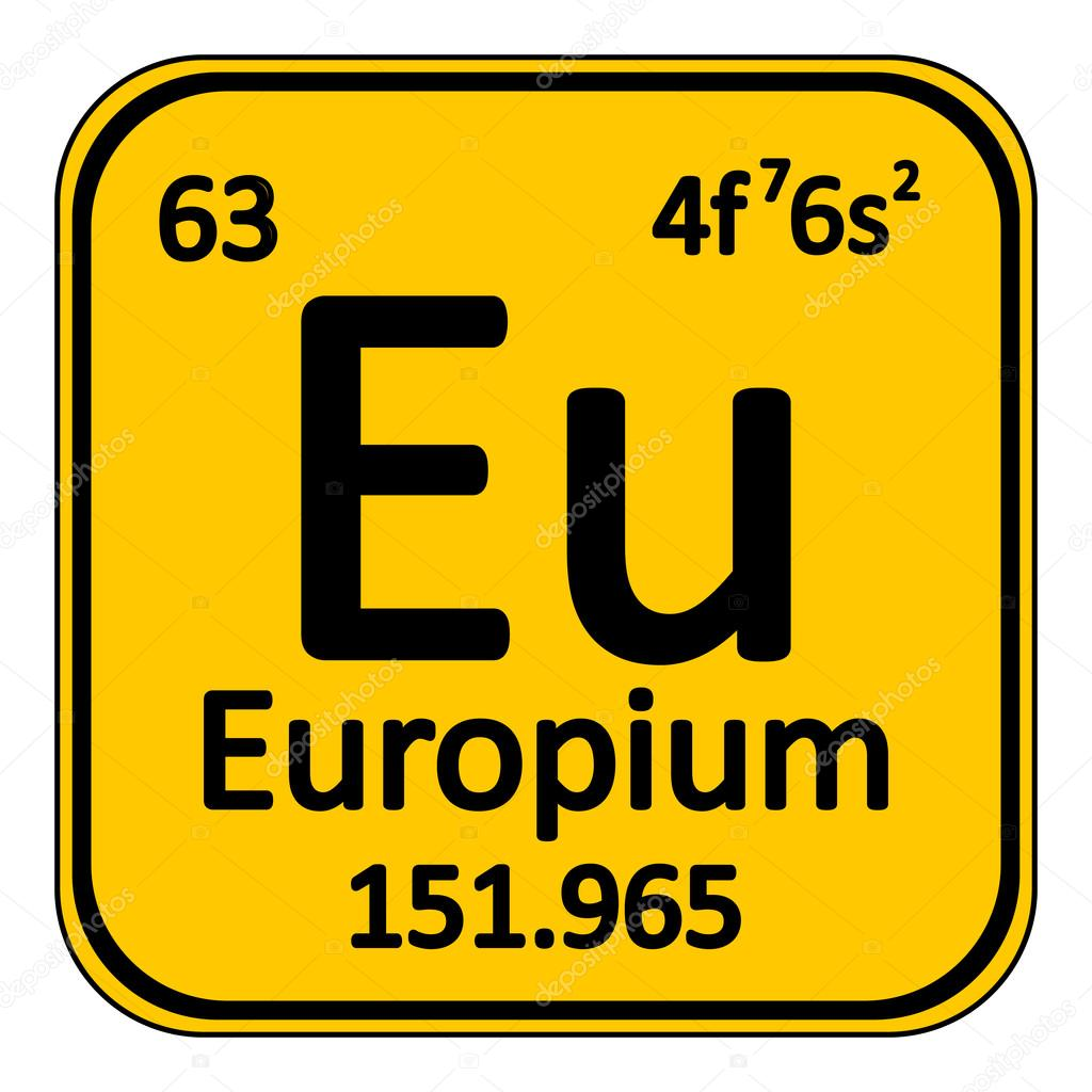 Element 63 periodic table image collections periodic table images periodic table element europium icon stock vector konstsem periodic table element europium icon on white background gamestrikefo Gallery