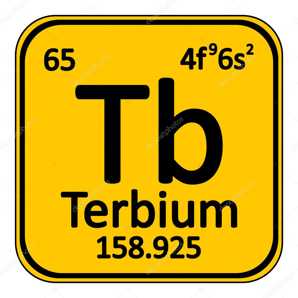 Icono de terbium de elemento de tabla peridica vector de stock icono de terbium de elemento de tabla peridica vector de stock urtaz Gallery