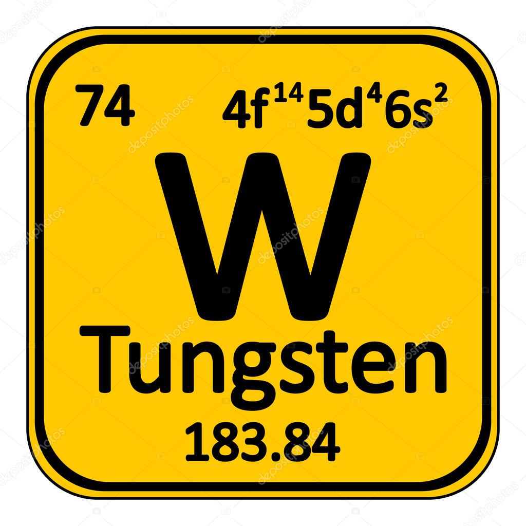 Periodic Table Element Tungsten Icon Stock Vector Konstsem