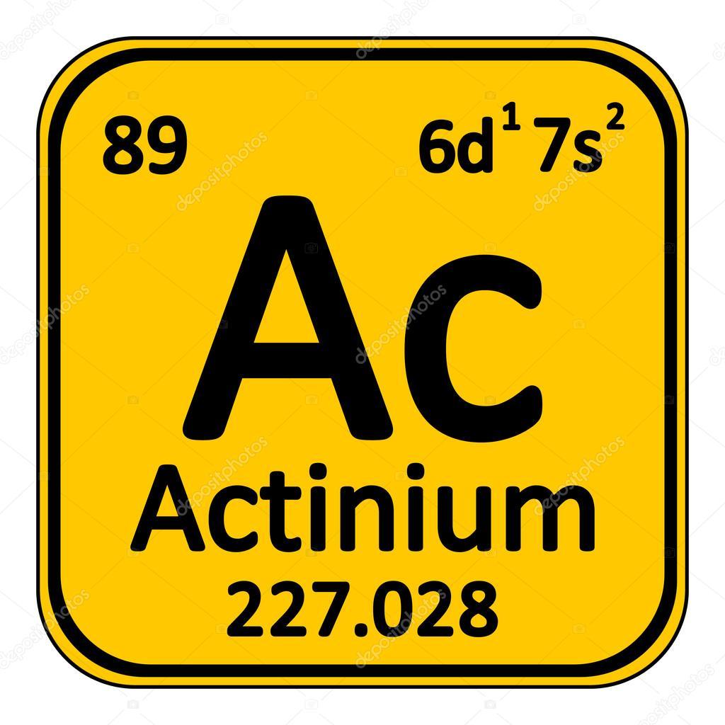 icono de tabla periodica elemento actinio archivo imgenes vectoriales
