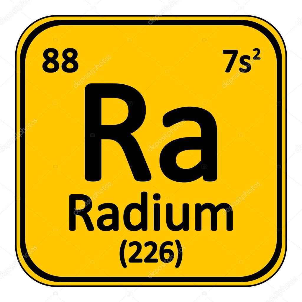 Periodic table element radium icon stock vector konstsem periodic table element radium icon on white background vector illustration vector by konstsem gamestrikefo Images