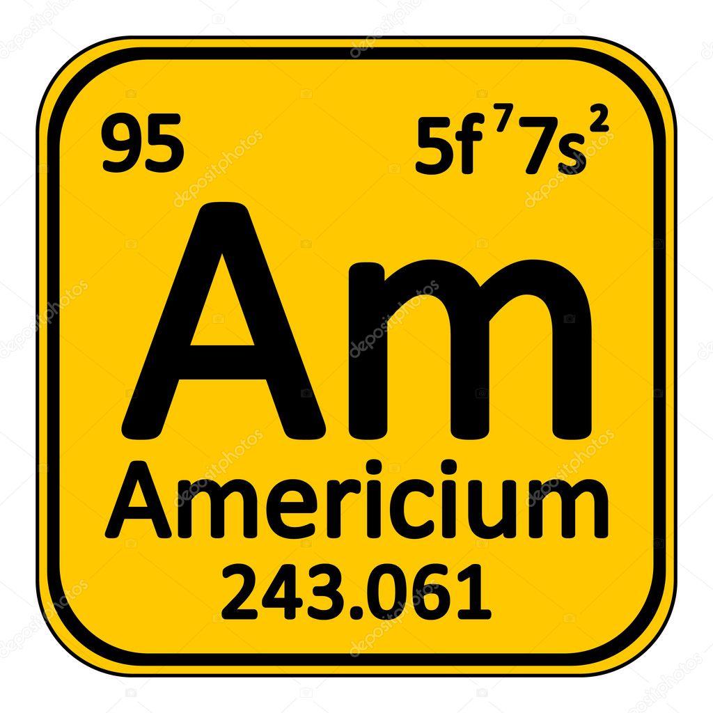 Icono de americio de elemento de tabla peridica vector de stock icono de americio de elemento de tabla peridica vector de stock urtaz Gallery