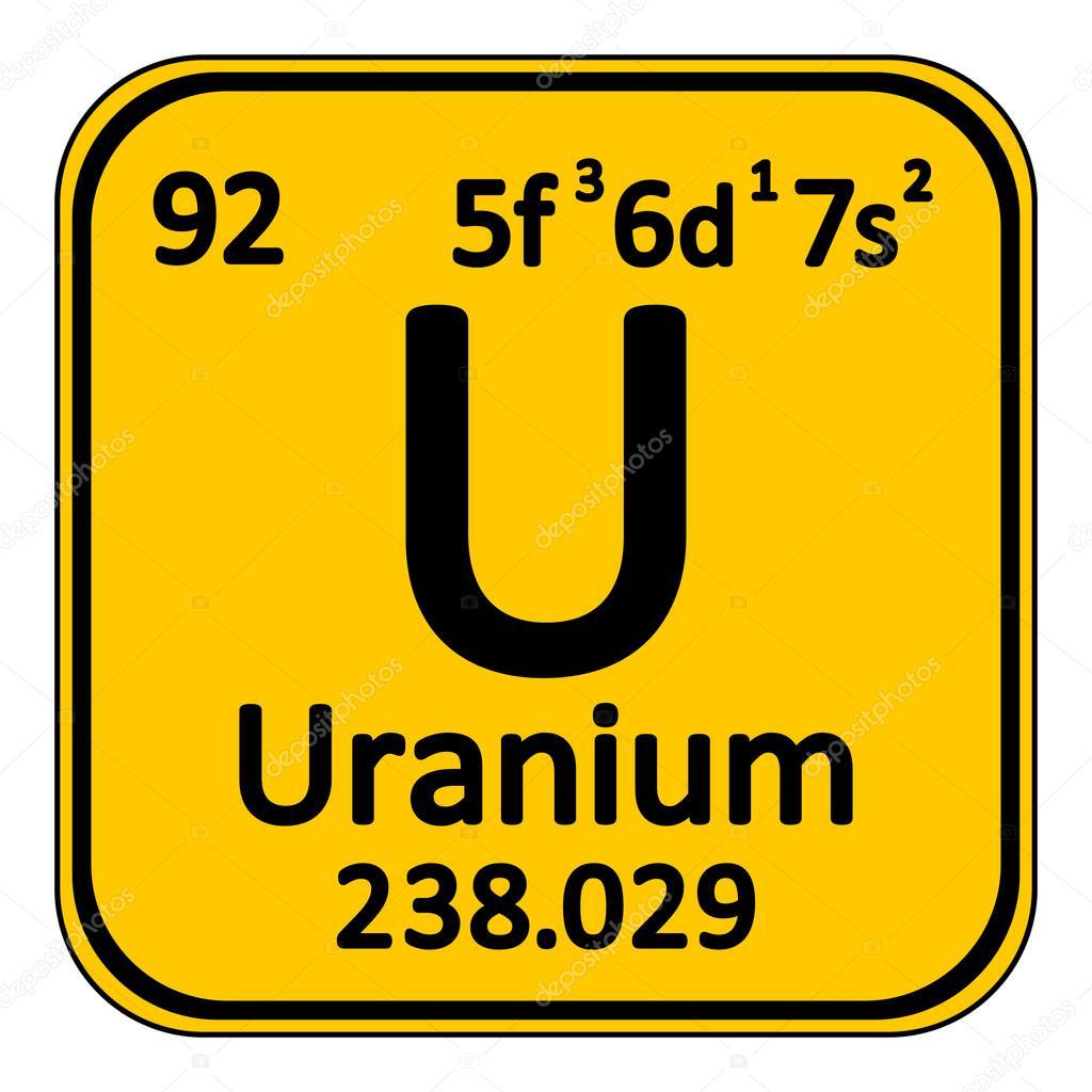 Icono de uranio de elemento de tabla peridica vector de stock tabla periodica elemento uranio el icono sobre fondo blanco ilustracin de vector vector de konstsem urtaz Images