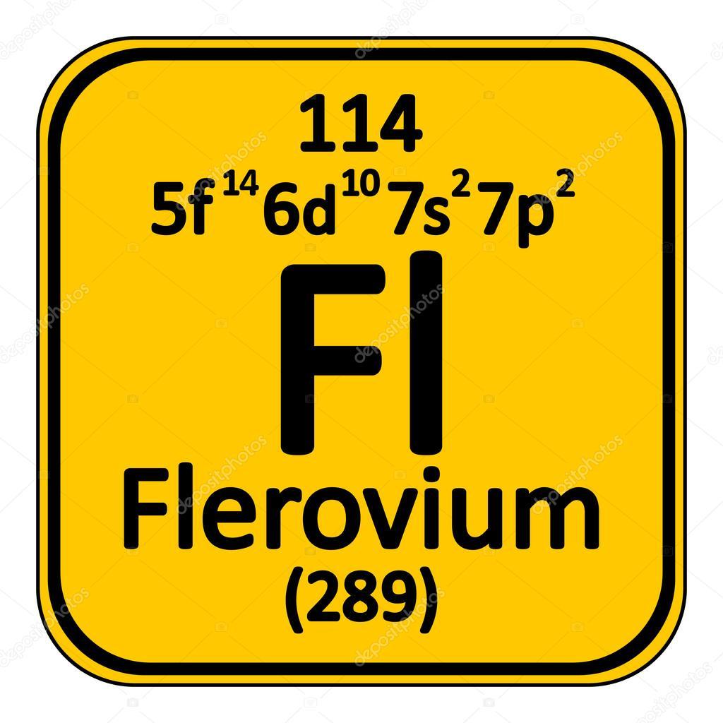 Periodic table element flerovium icon stock vector konstsem periodic table element flerovium icon on white background vector illustration vector by konstsem gamestrikefo Images