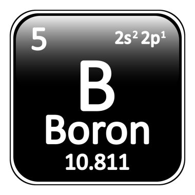 Periodic table element boron icon.