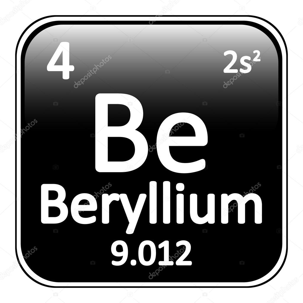 Icono de berilio de elemento de tabla peridica vector de stock tabla periodica elemento berilio el icono sobre fondo blanco ilustracin de vector vector de konstsem urtaz Gallery