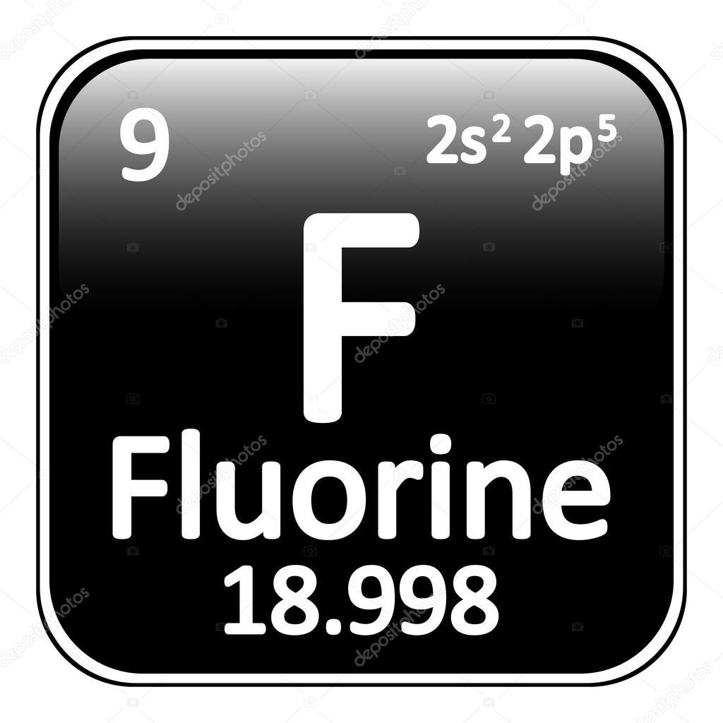 Periodic table element fluorine icon stock vector konstsem periodic table element fluorine icon stock vector urtaz Images