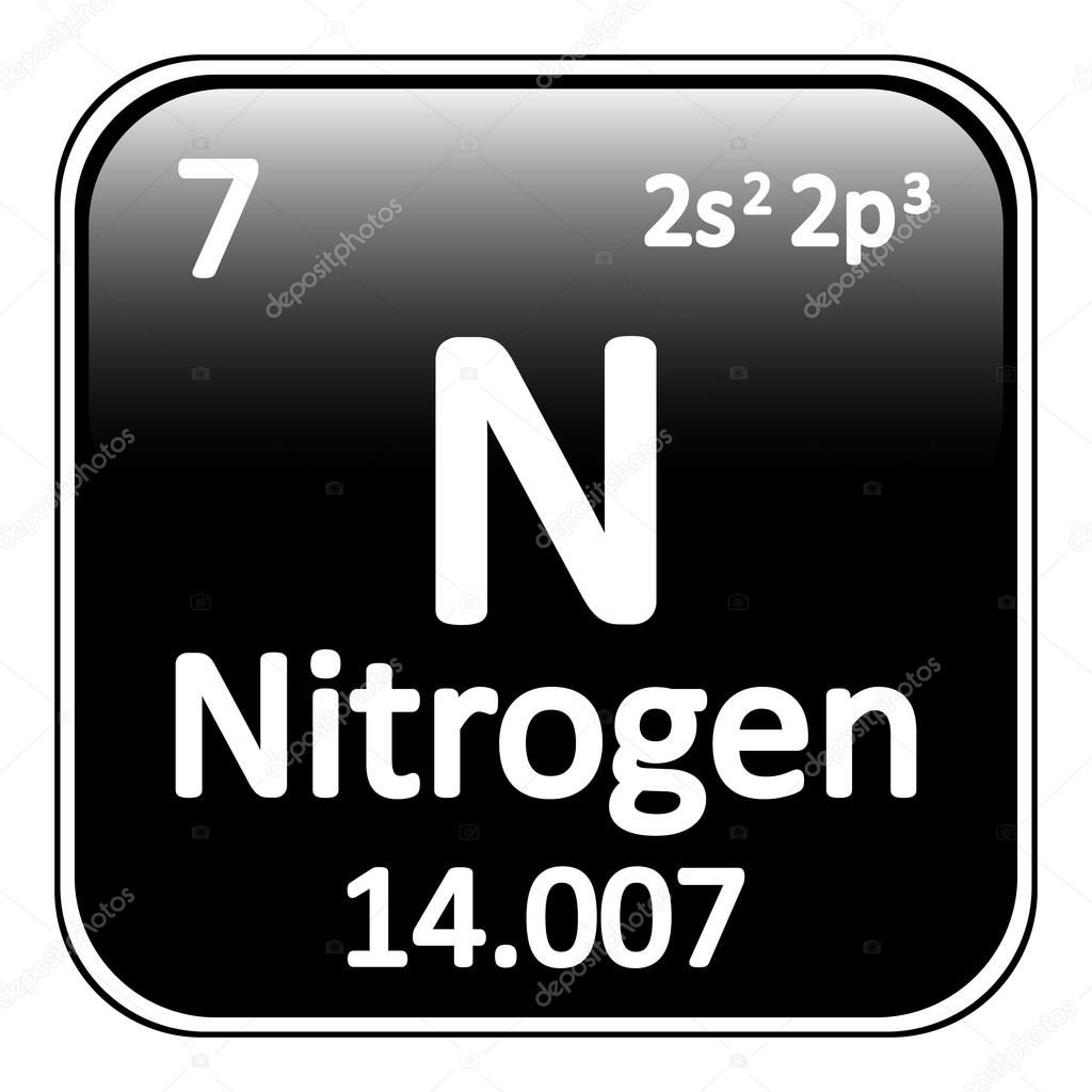Periodic table element nitrogen icon stock vector konstsem periodic table element nitrogen icon on white background vector illustration vector by konstsem gamestrikefo Gallery
