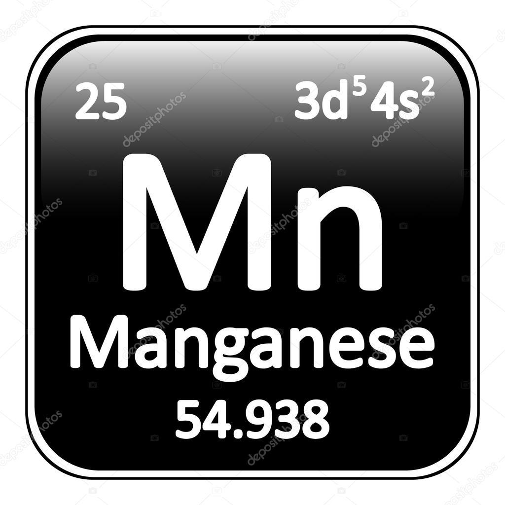 Icono de manganeso de elemento de tabla peridica vector de tabla periodica elemento manganeso en icono fondo blanco ilustracin de vector vector de konstsem urtaz Images