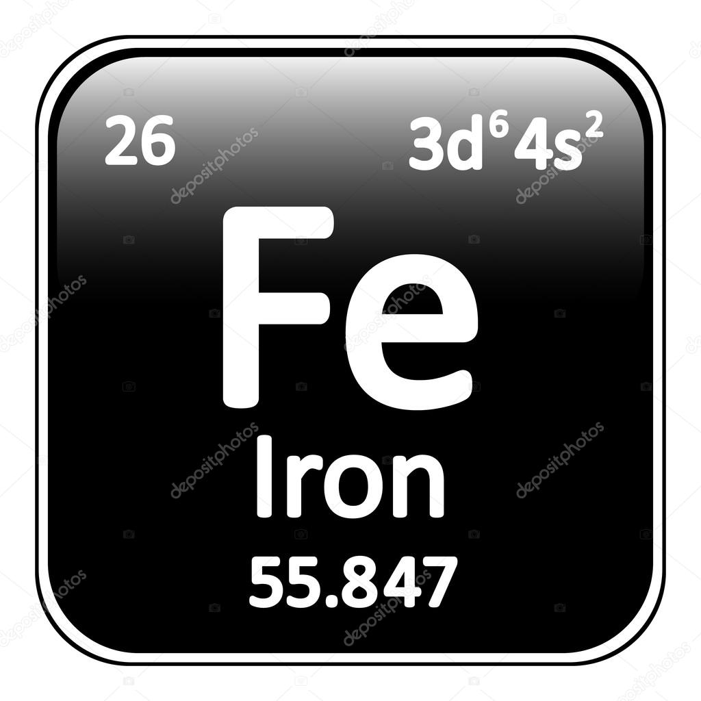 Periodic table element iron icon stock vector konstsem 128120508 periodic table element iron icon on white background vector illustration vector by konstsem gamestrikefo Image collections