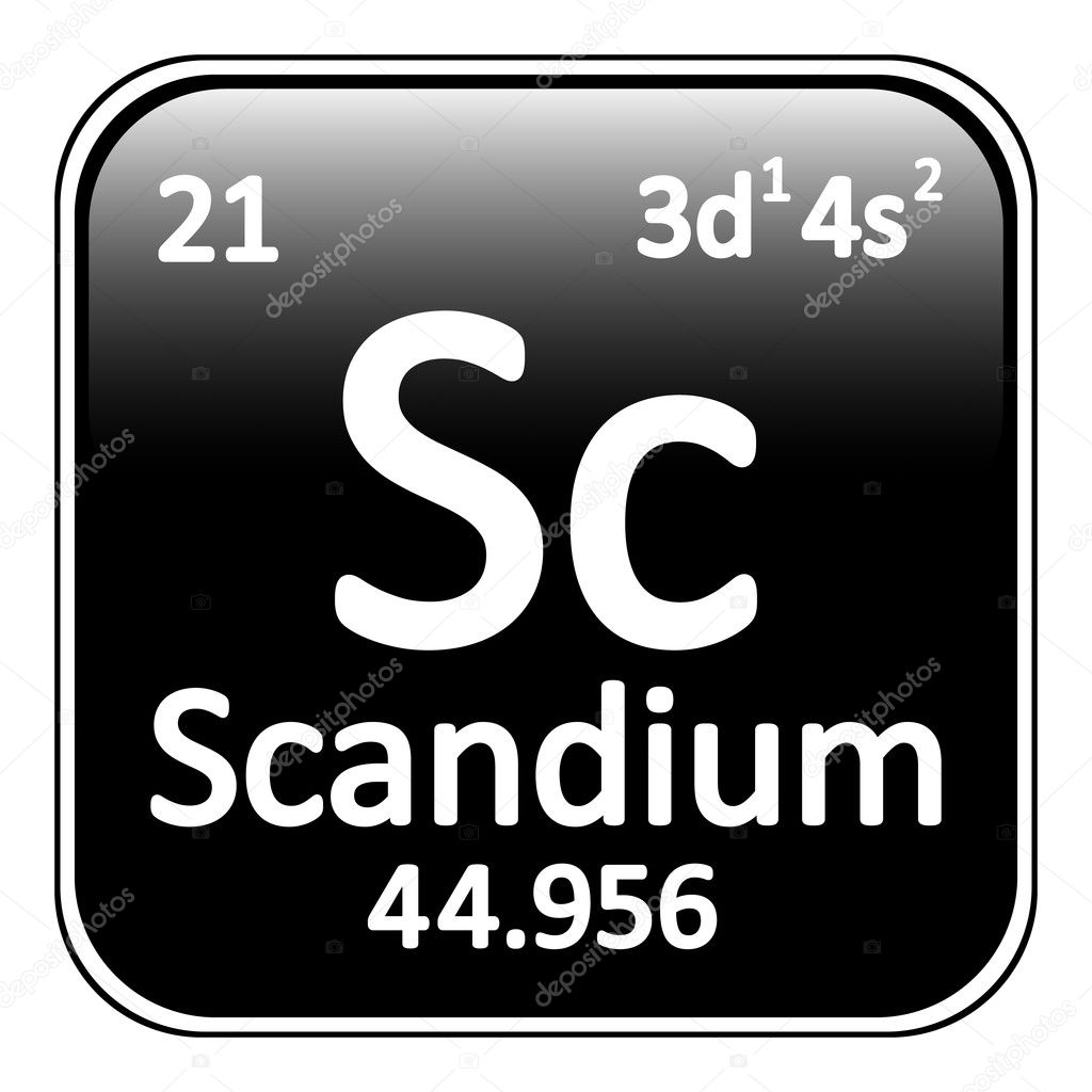 Periodic table element scandium icon stock vector konstsem periodic table element scandium icon on white background vector illustration vector by konstsem gamestrikefo Images