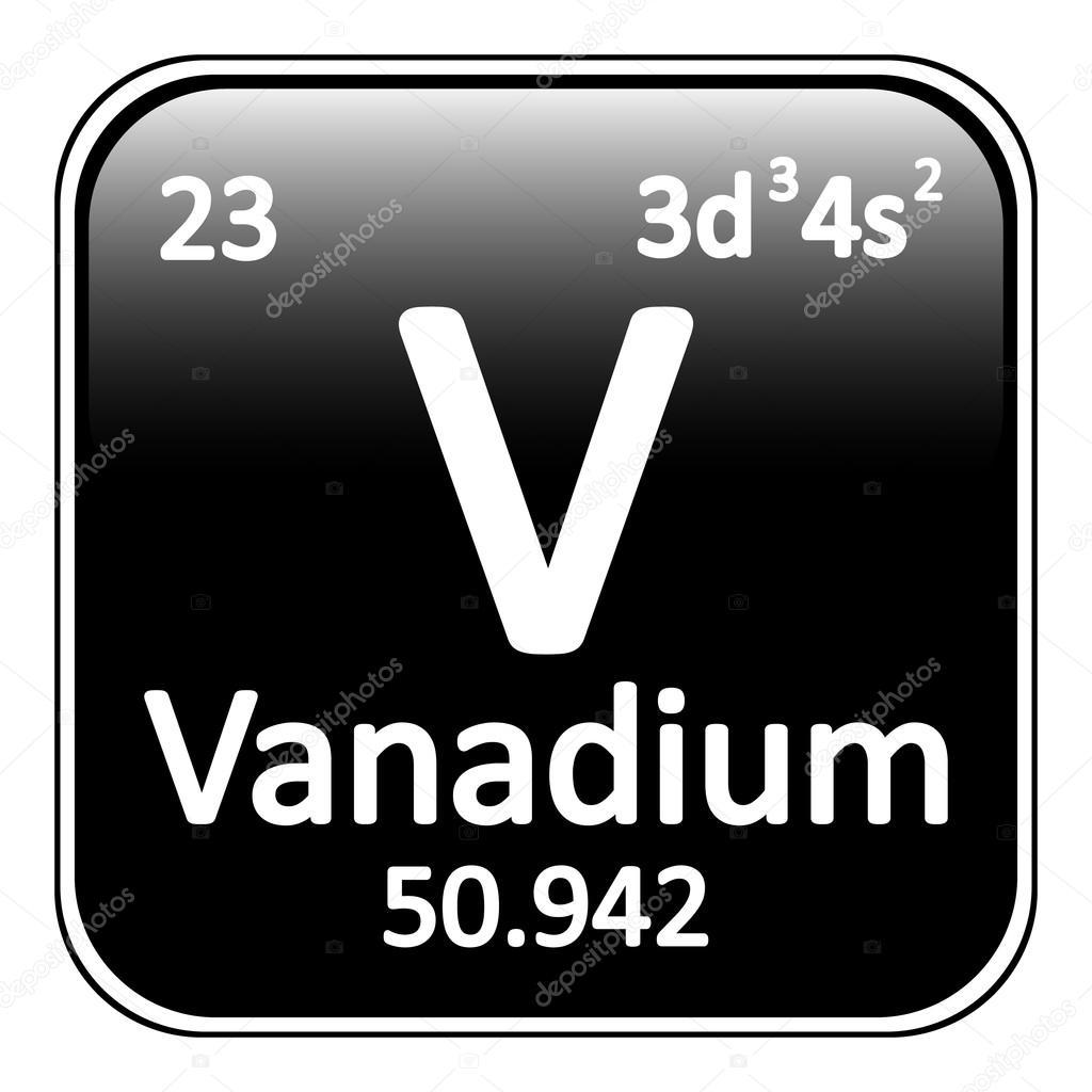 Icono de vanadio de elemento de tabla peridica vector de stock tabla periodica elemento vanadio el icono sobre fondo blanco ilustracin de vector vector de konstsem urtaz Image collections