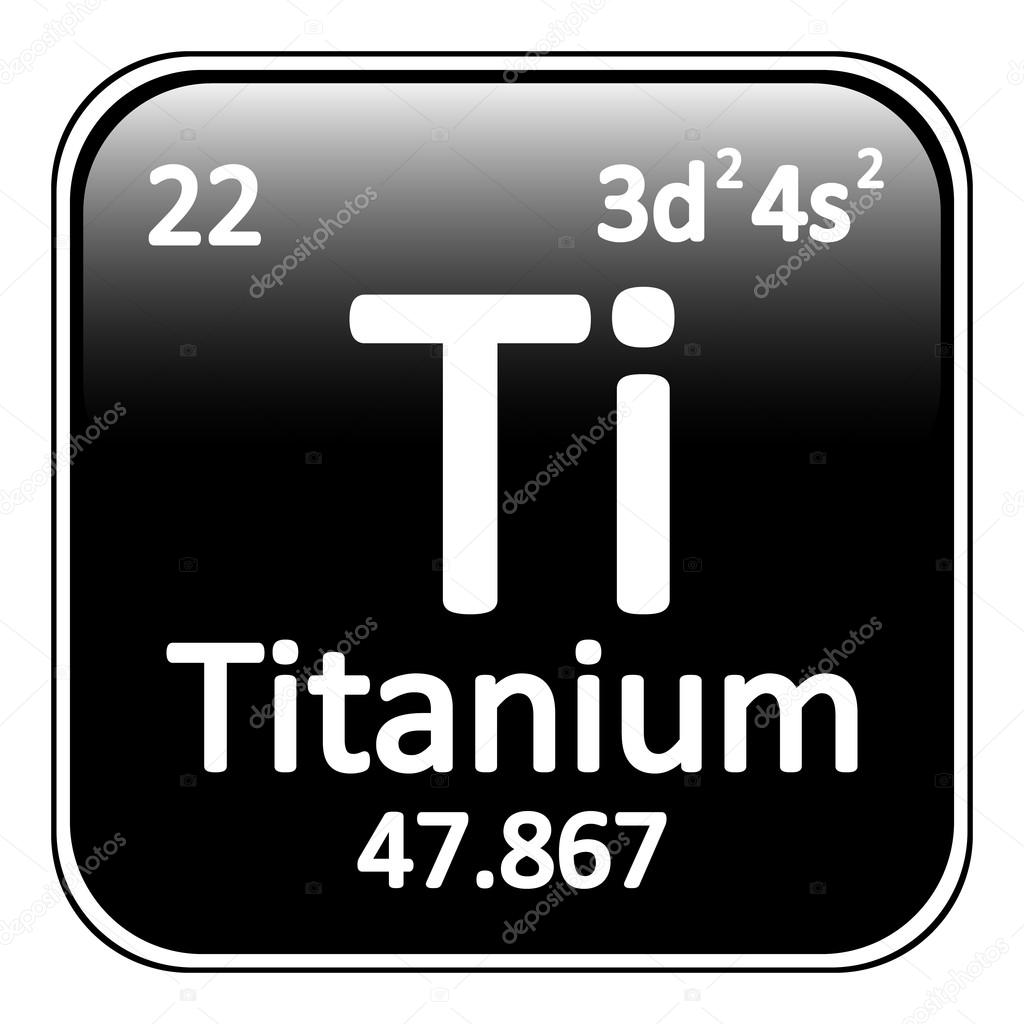 Icono de titanio de elemento de tabla peridica vector de stock tabla periodica elemento titanio el icono sobre fondo blanco ilustracin de vector vector de konstsem urtaz Choice Image