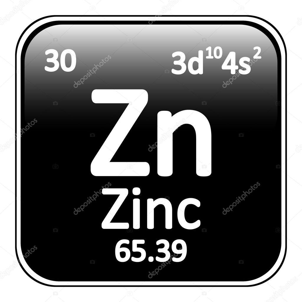 Icono de zinc elemento tabla peridica vector de stock konstsem tabla periodica elemento zinc el icono sobre fondo blanco ilustracin de vector vector de konstsem urtaz Images