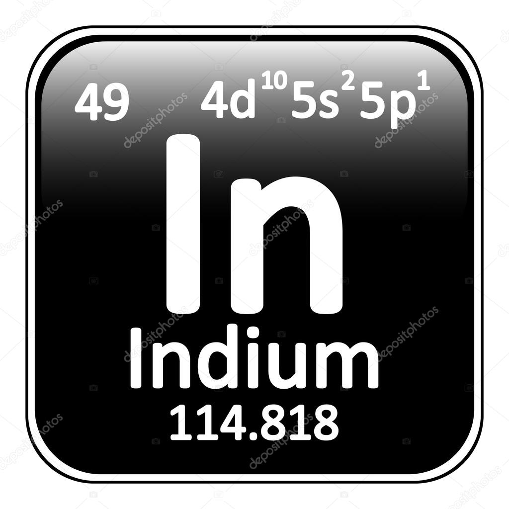 Element 49 periodic table image collections periodic table images periodic table element indium icon stock vector konstsem periodic table element indium icon on white background gamestrikefo Gallery