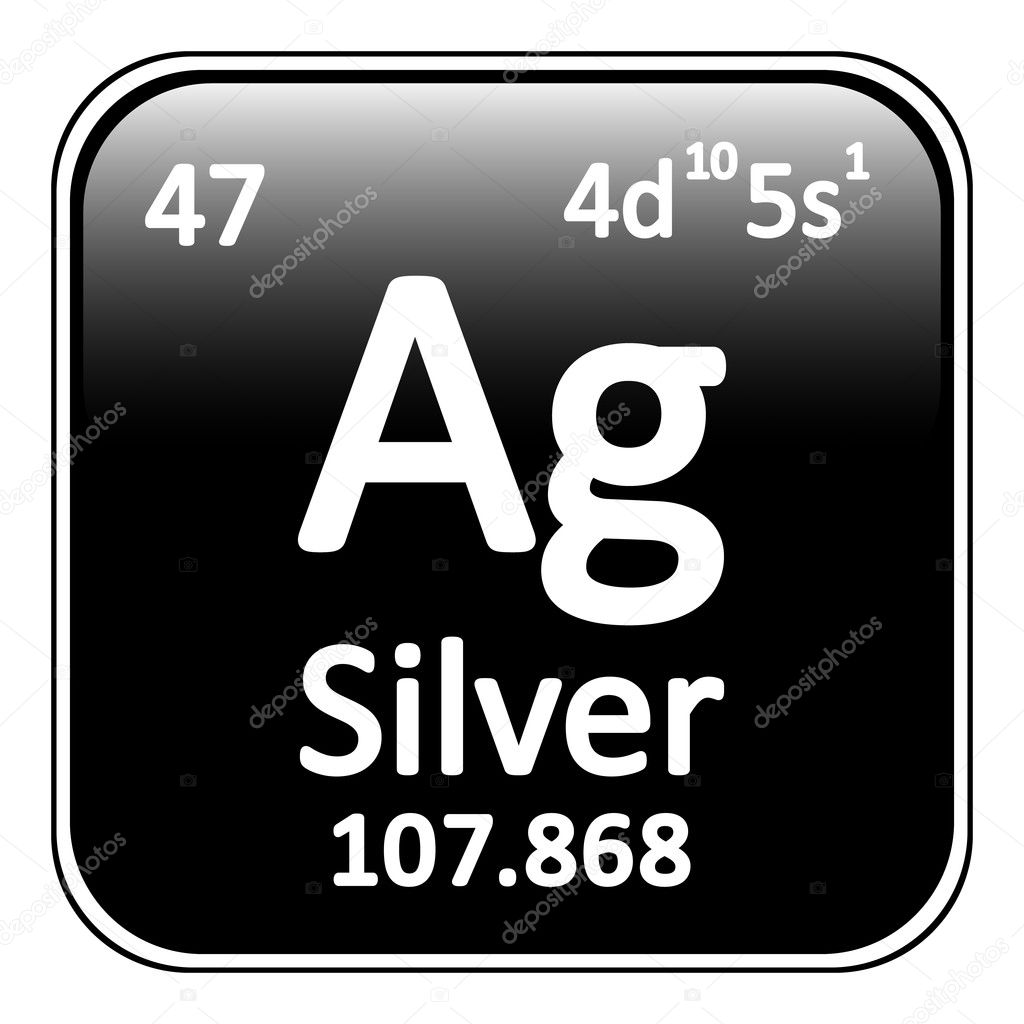 What is silver in the periodic table choice image periodic table periodic table element silver icon stock vector konstsem periodic table element silver icon on white background gamestrikefo Choice Image
