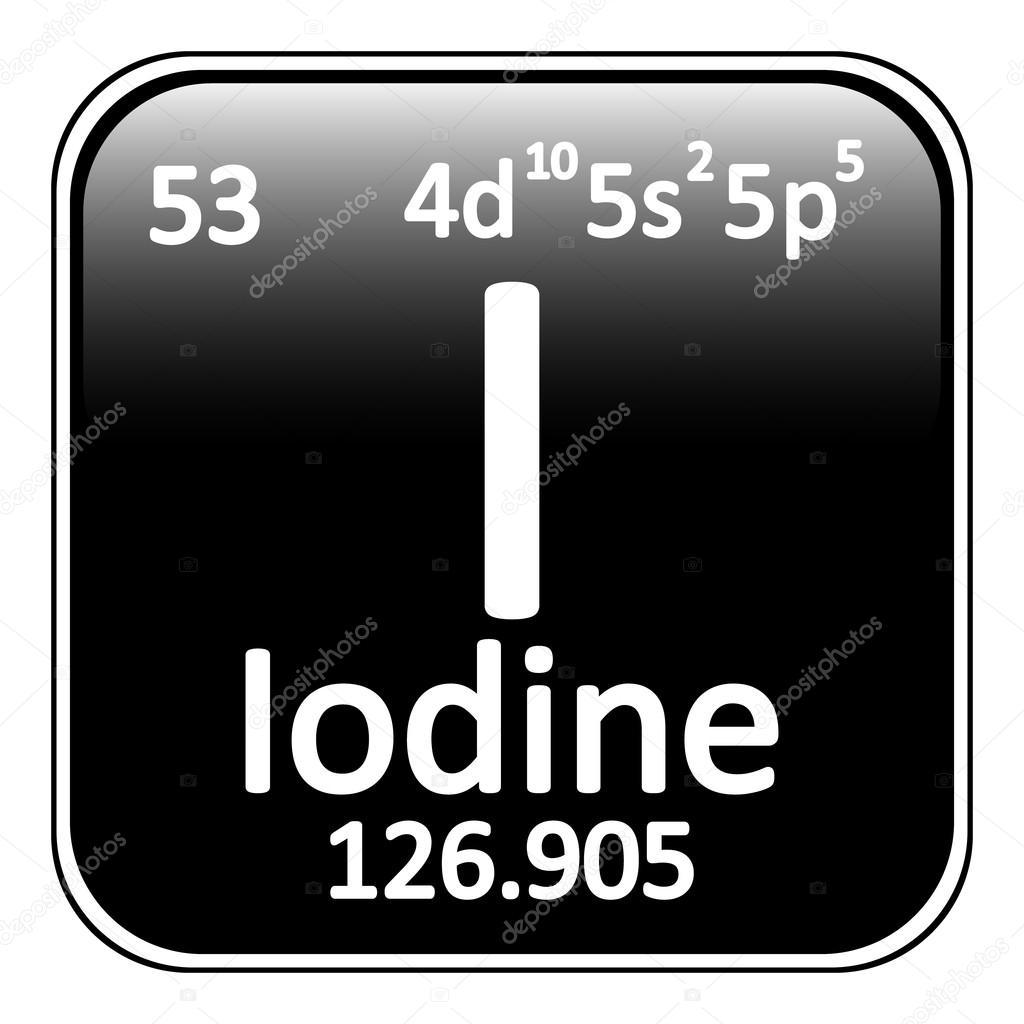 Icono de yodo de elemento de tabla peridica vector de stock tabla periodica elemento yodo el icono sobre fondo blanco ilustracin de vector vector de konstsem urtaz Choice Image