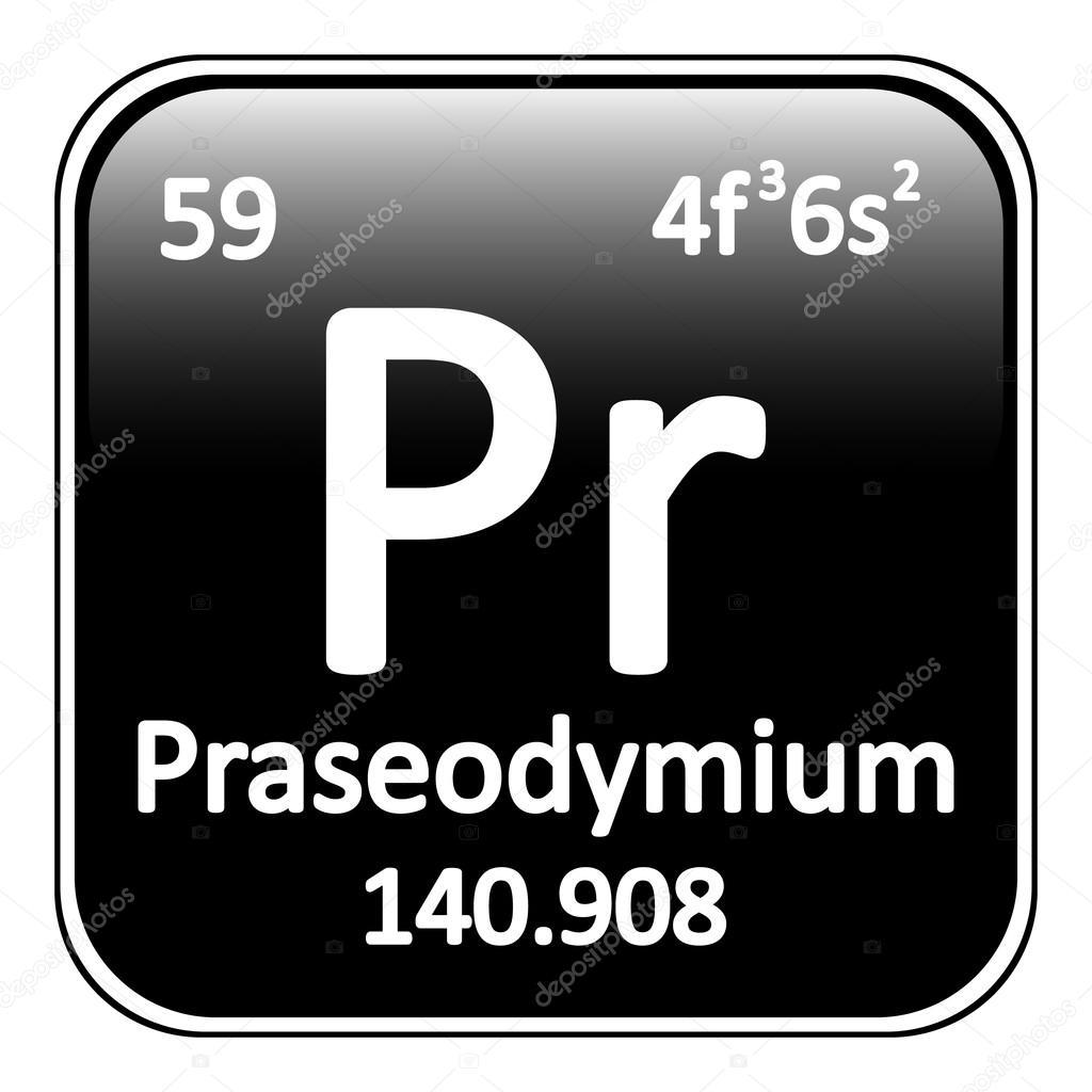 Icono de tabla periodica elemento praseodimio archivo imgenes tabla periodica elemento praseodimio el icono sobre fondo blanco ilustracin de vector vector de konstsem urtaz Gallery