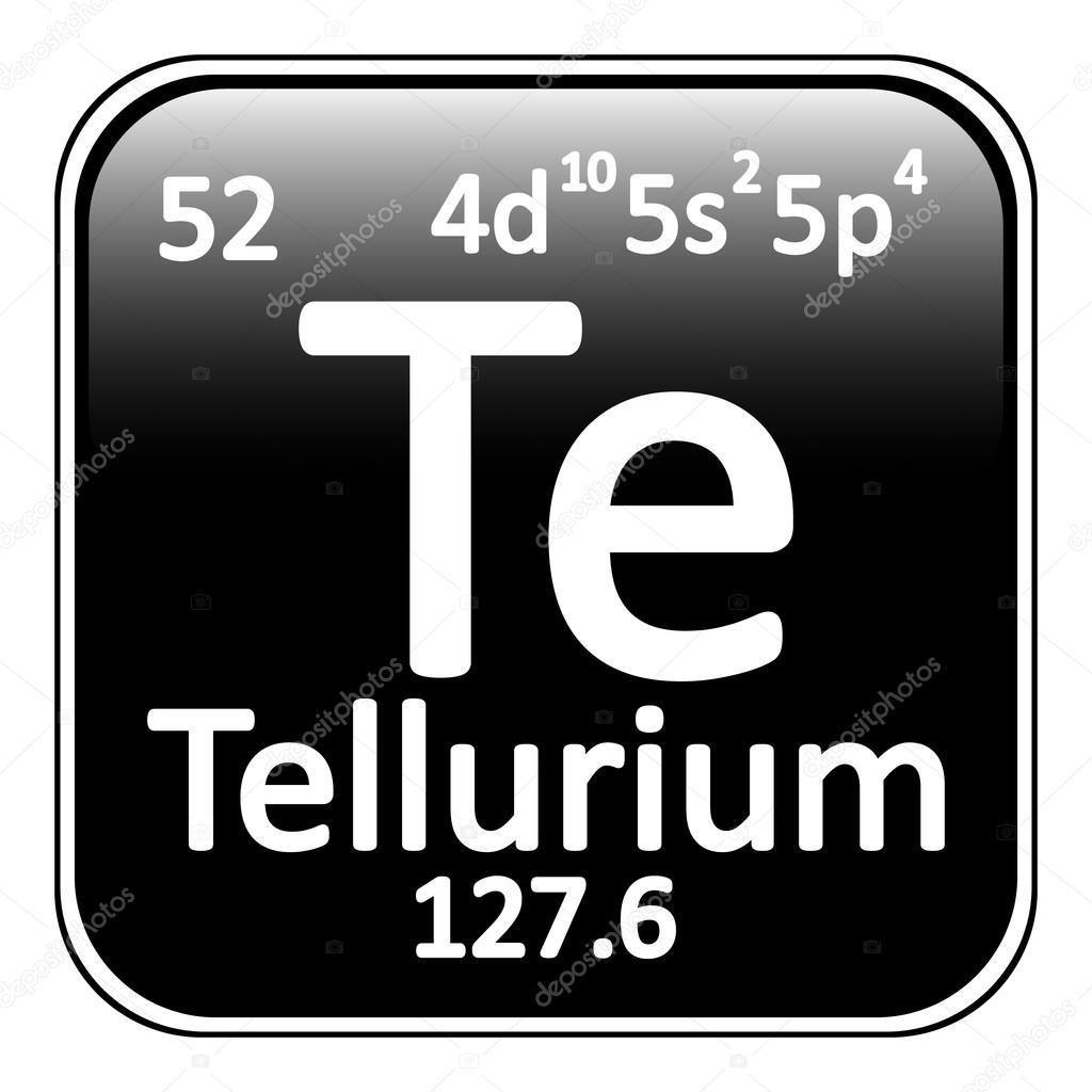 Icono de tabla periodica elemento telurio vector de stock icono de tabla periodica elemento telurio vector de stock urtaz Gallery
