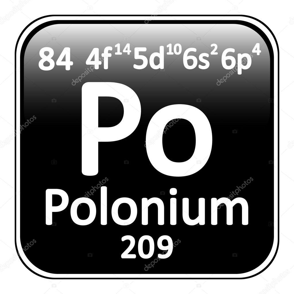 Icono de tabla periodica elemento polonio archivo imgenes tabla periodica elemento polonio el icono sobre fondo blanco ilustracin de vector vector de konstsem urtaz Images