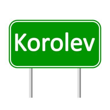 Korolev road sign.