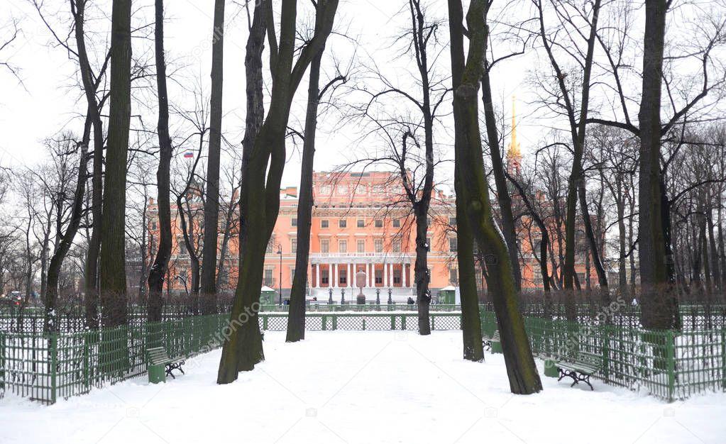 The Mikhailovsky Castle and Summer Garden.