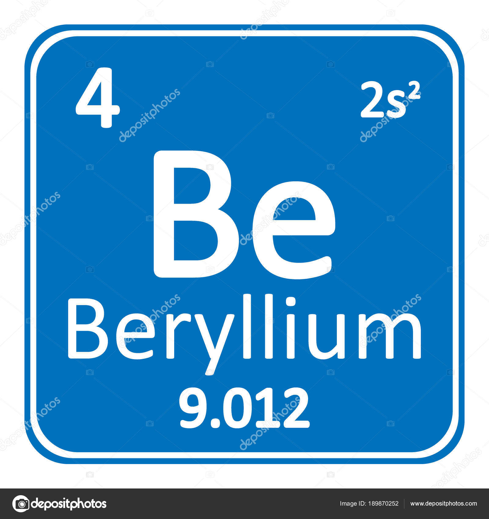 Periodic table element beryllium icon stock vector konstsem periodic table element beryllium icon stock vector urtaz Image collections