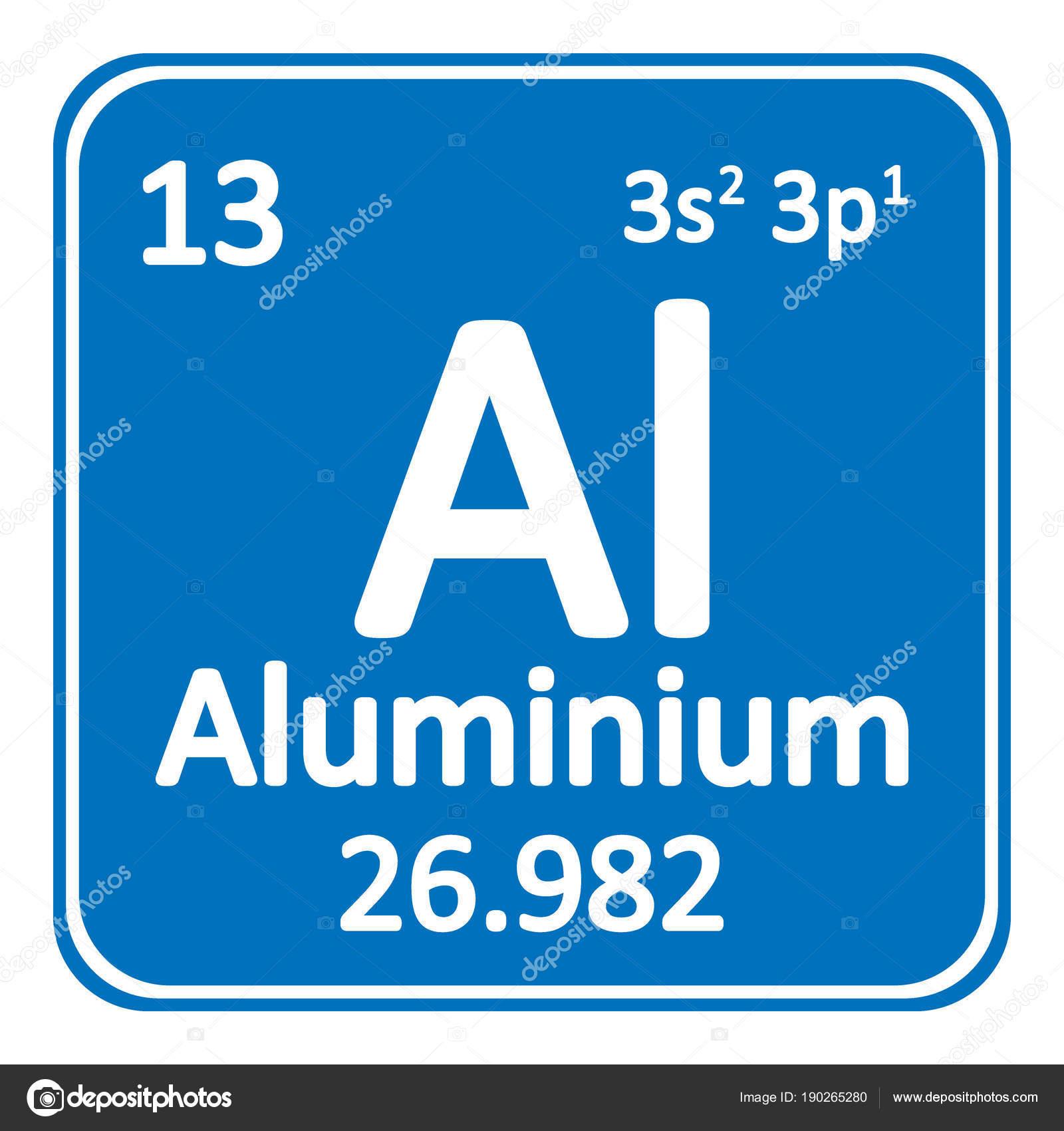 Icono de aluminio de elemento de tabla periódica — Archivo Imágenes ...