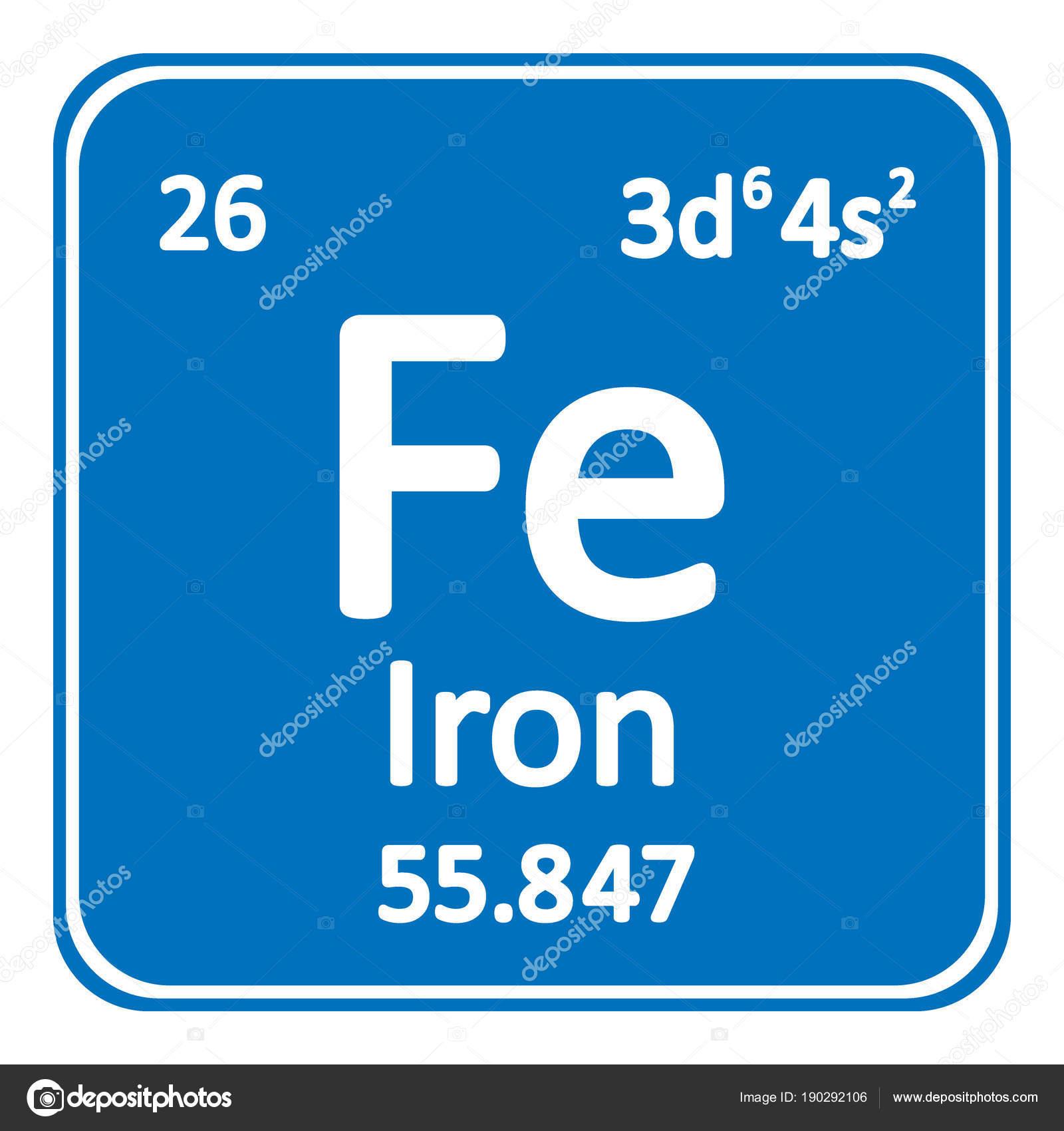 Icono de hierro elemento tabla peridica archivo imgenes tabla periodica elemento hierro icono fondo blanco ilustracin de vector vector de konstsem urtaz Choice Image