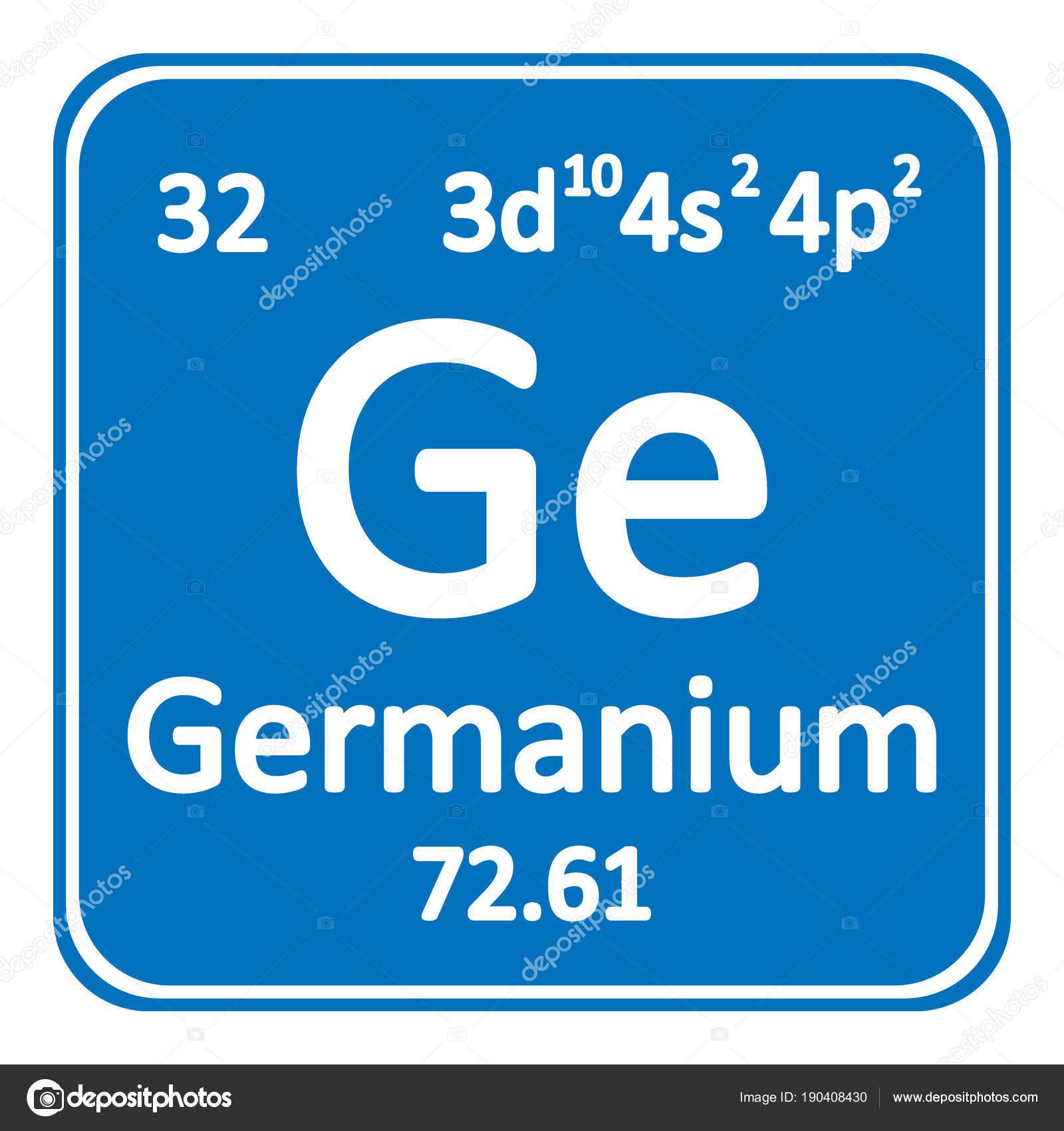 Icono de germanio de elemento de tabla peridica vector de stock tabla periodica elemento germanio el icono sobre fondo blanco ilustracin de vector vector de konstsem urtaz Gallery