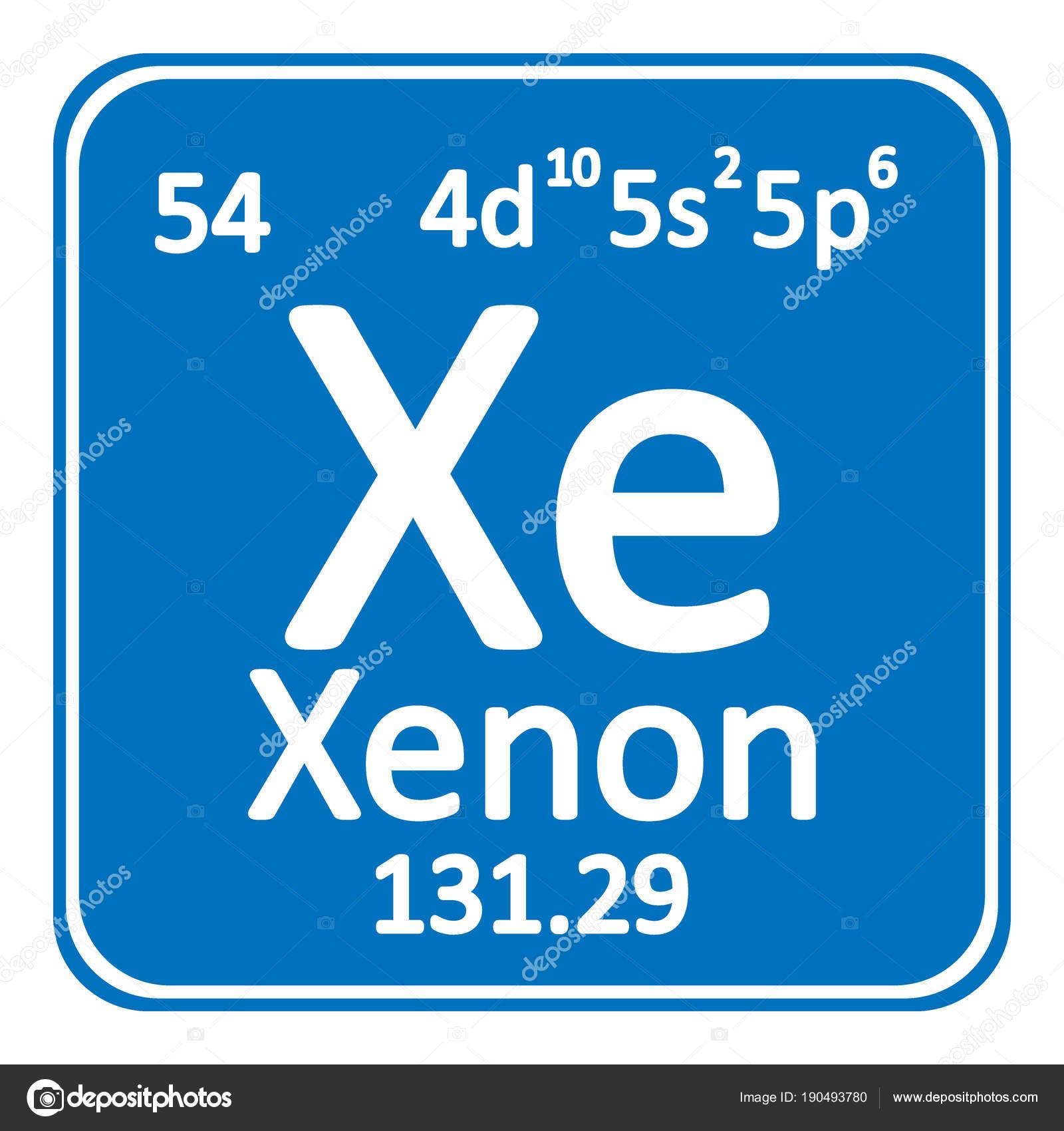 Icono de xenn de elemento de tabla peridica archivo imgenes tabla periodica elemento xenn el icono sobre fondo blanco ilustracin de vector vector de konstsem urtaz Gallery