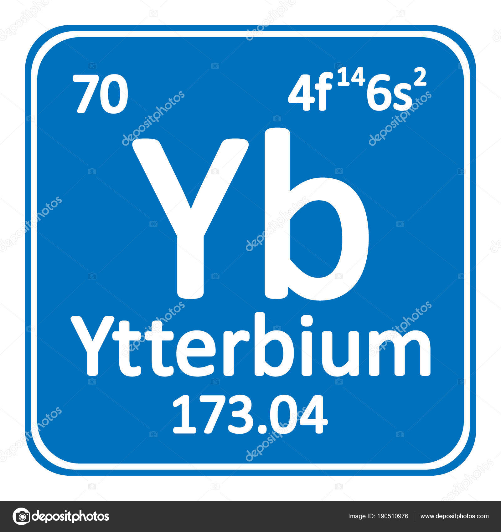 Periodic Table Element Ytterbium Icon Stock Vector Konstsem