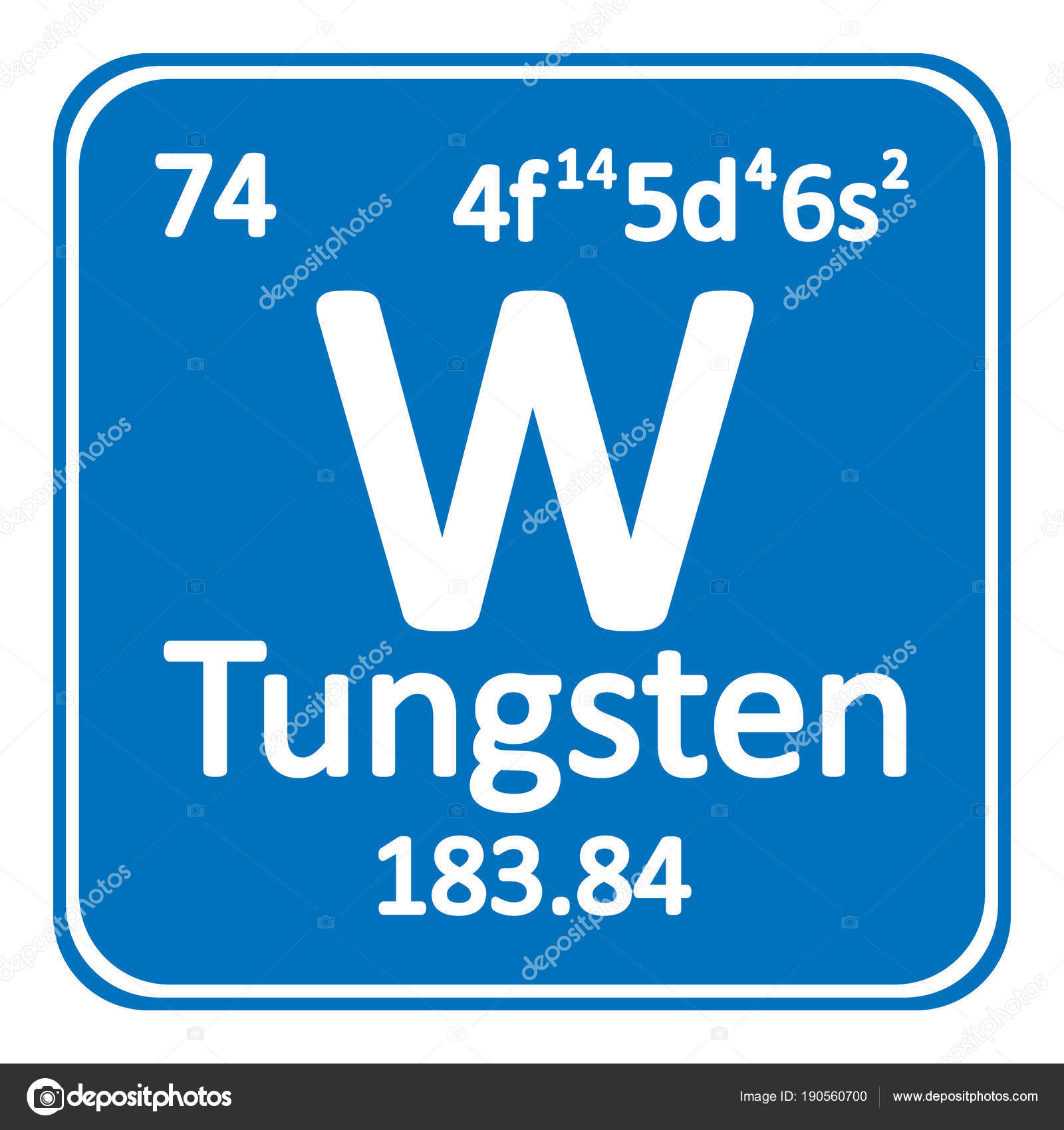 Periodic table element tungsten icon stock vector konstsem periodic table element tungsten icon stock vector urtaz Image collections