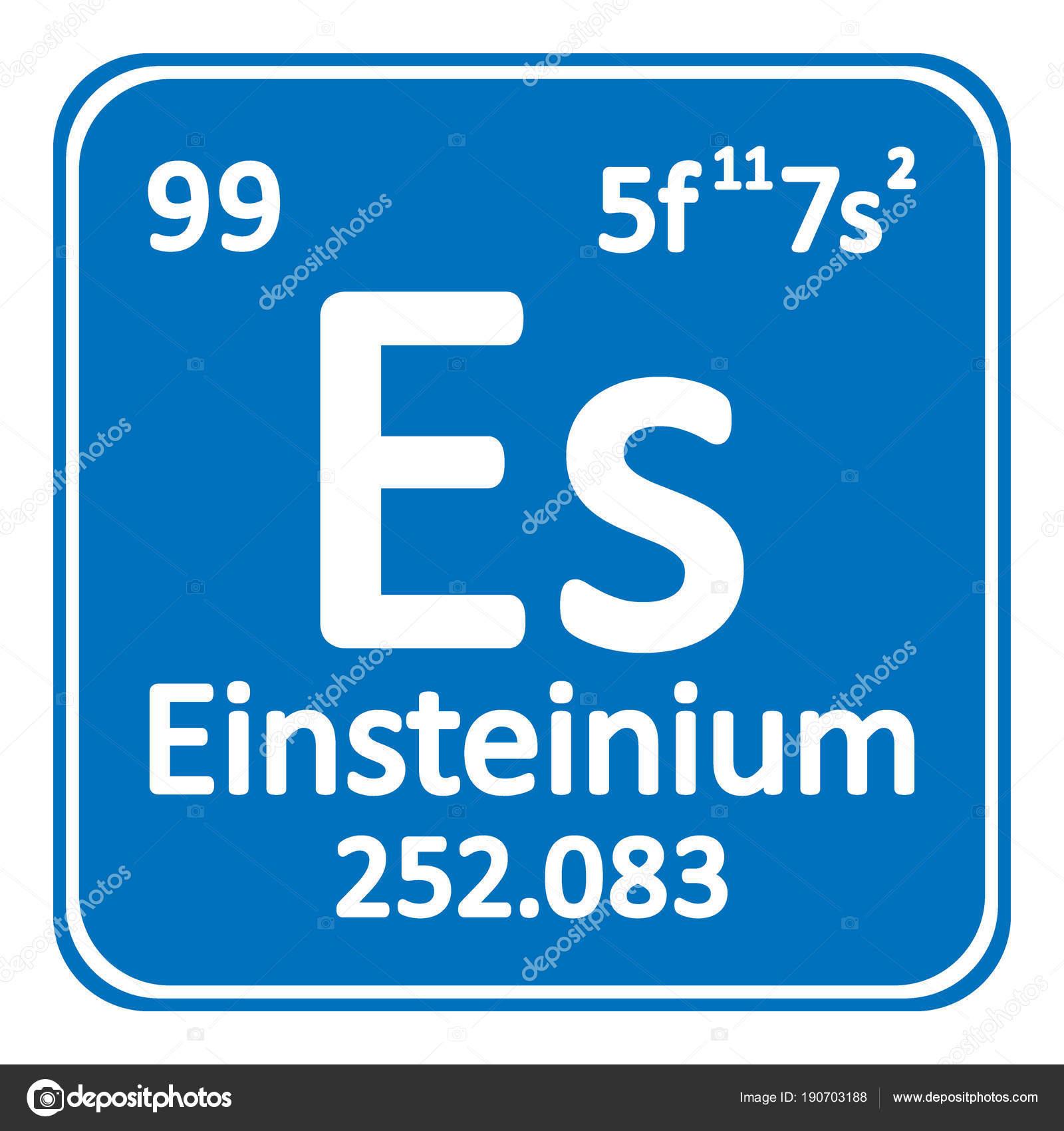 Icono de einstenio elemento tabla peridica archivo imgenes icono de einstenio elemento tabla peridica archivo imgenes vectoriales urtaz Images
