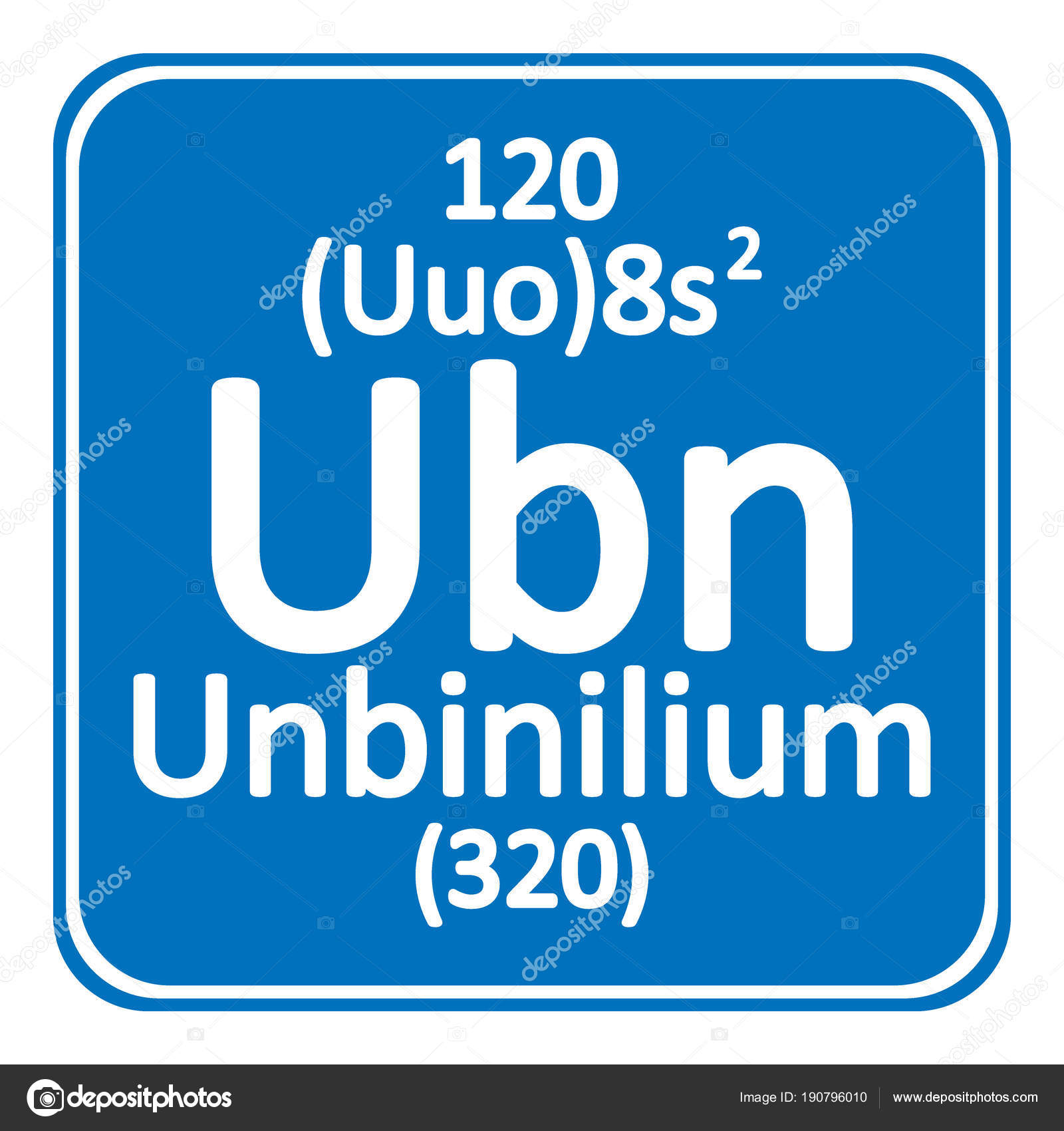 Periodic table element unbinilium icon stock vector konstsem periodic table element unbinilium icon stock vector urtaz