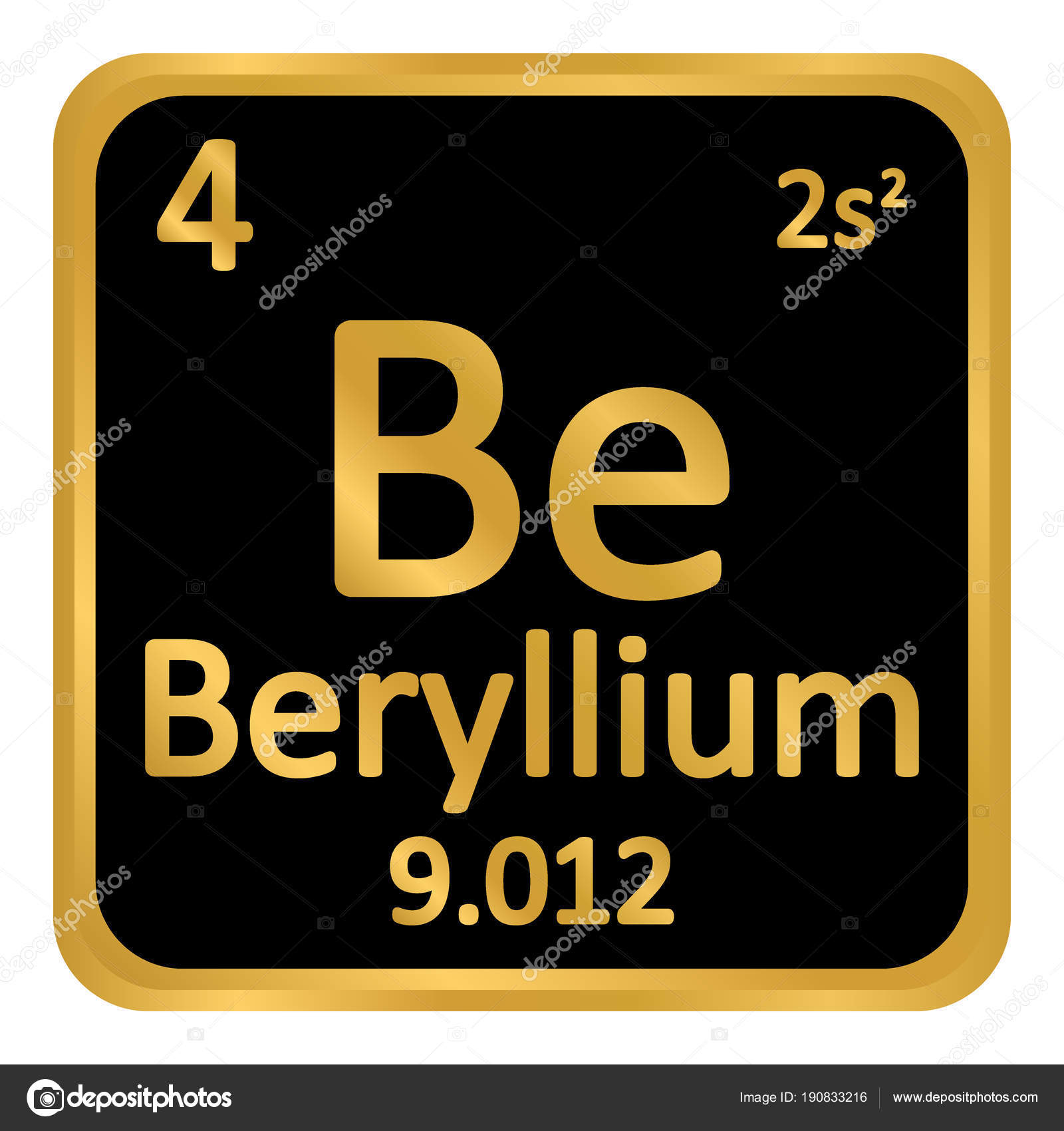 Periodic table element beryllium icon stock vector konstsem periodic table element beryllium icon stock vector urtaz