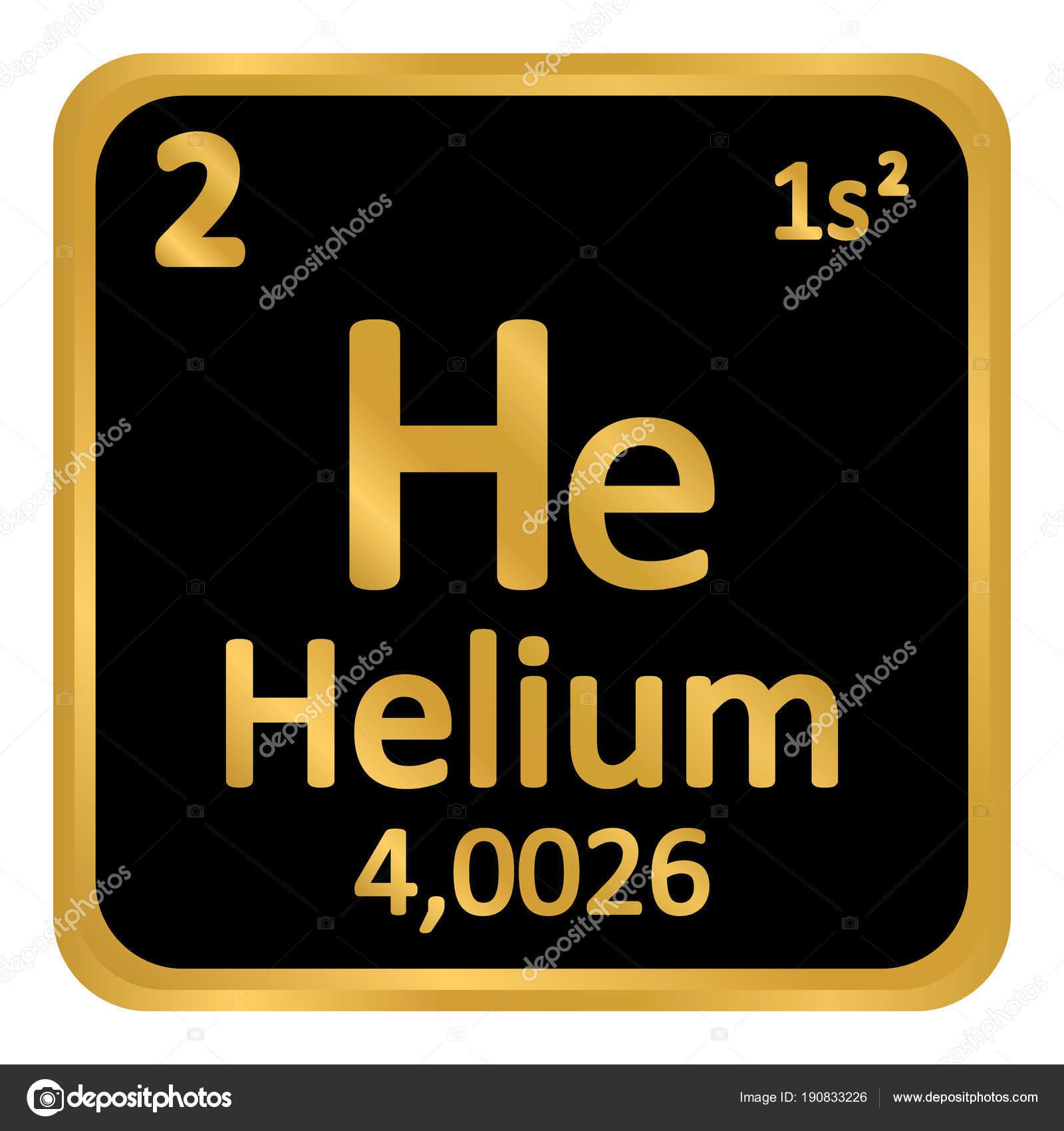 Icono de helio de elemento de tabla peridica vector de stock tabla periodica elemento helio el icono sobre fondo blanco ilustracin de vector vector de konstsem urtaz Gallery