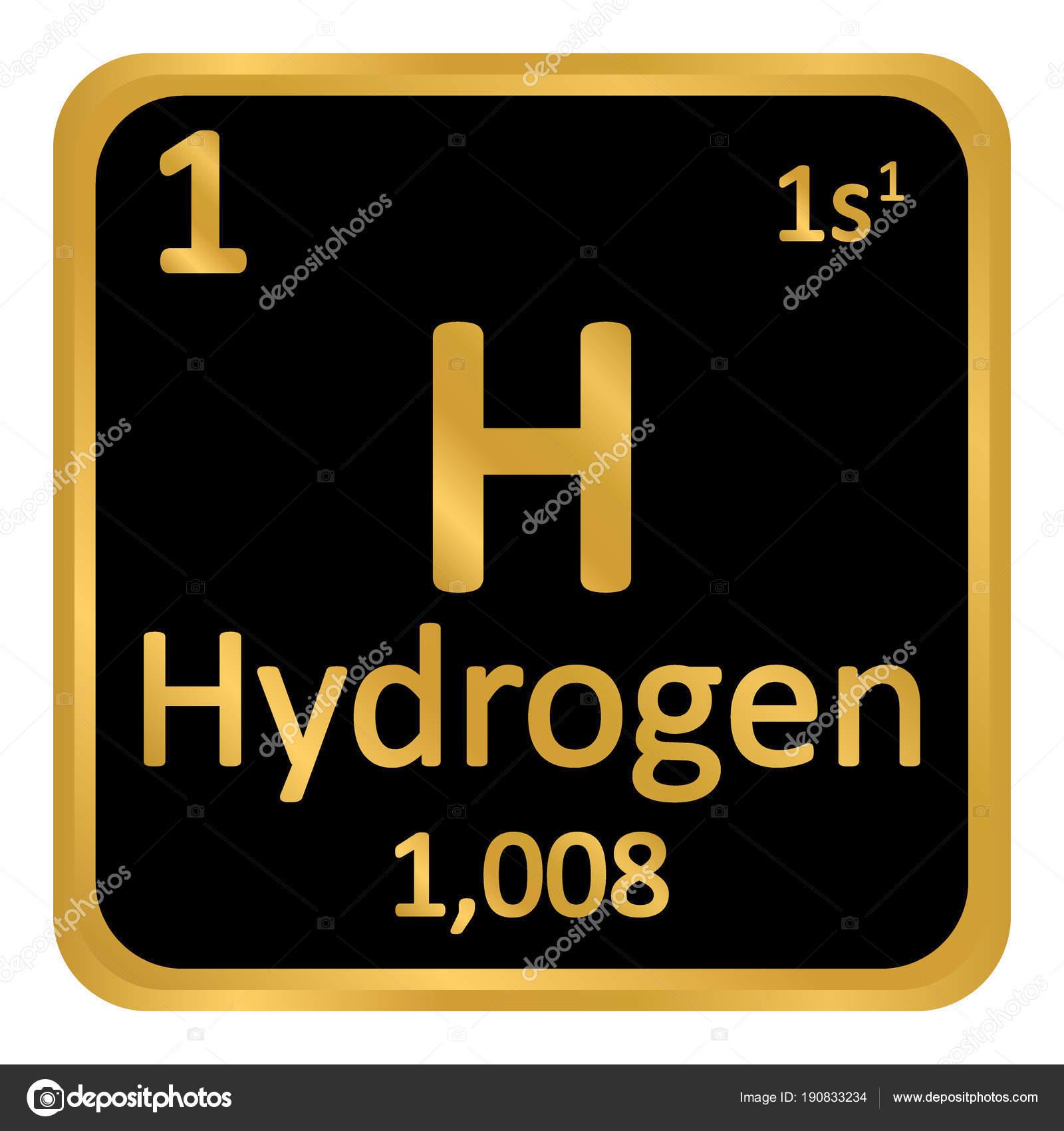 Icono de hidrgeno de elemento de tabla peridica archivo imgenes tabla periodica elemento hidrgeno el icono sobre fondo blanco ilustracin de vector vector de konstsem urtaz Choice Image