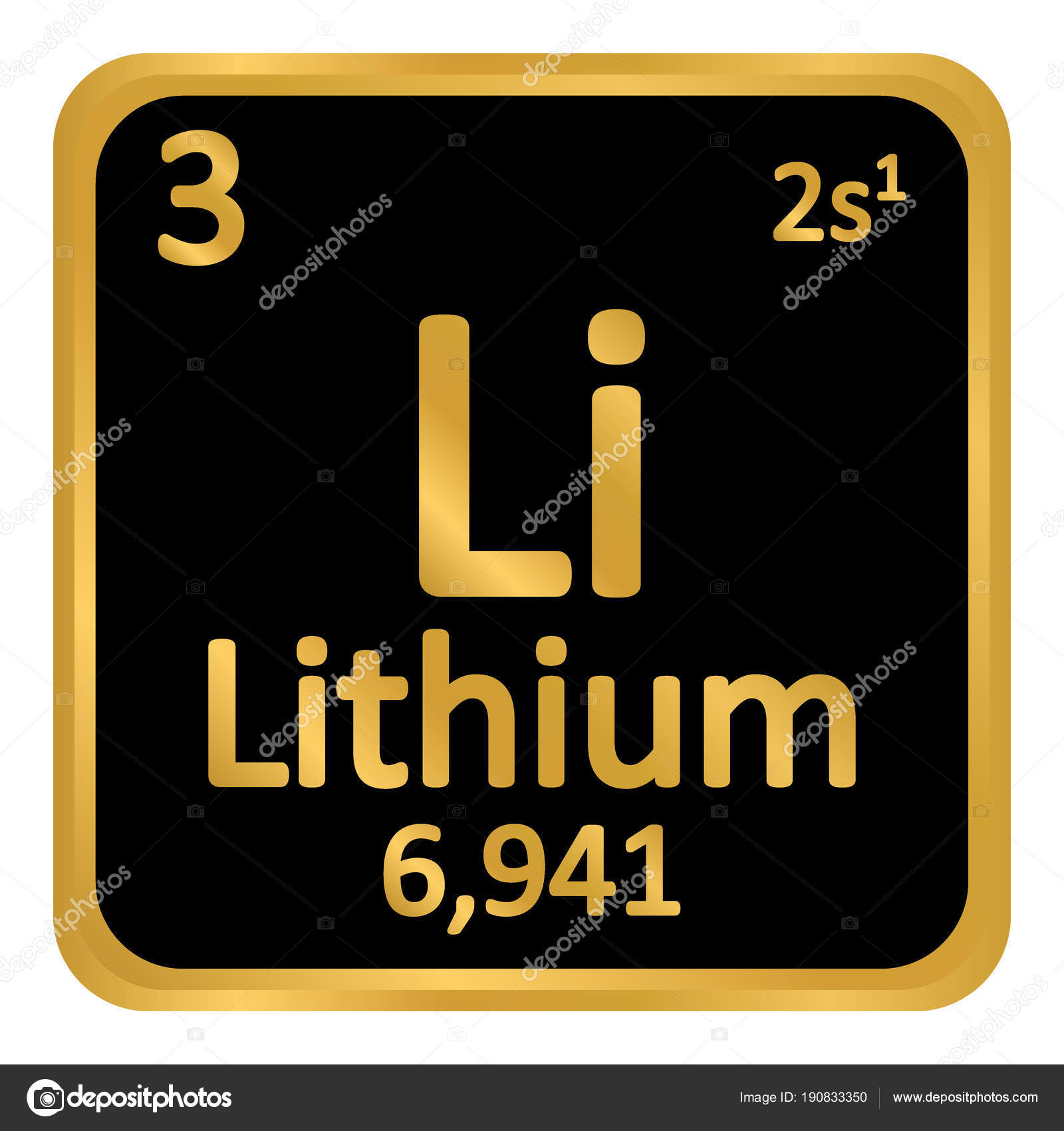 Periodic table element lithium icon stock vector konstsem periodic table element lithium icon stock vector urtaz Gallery