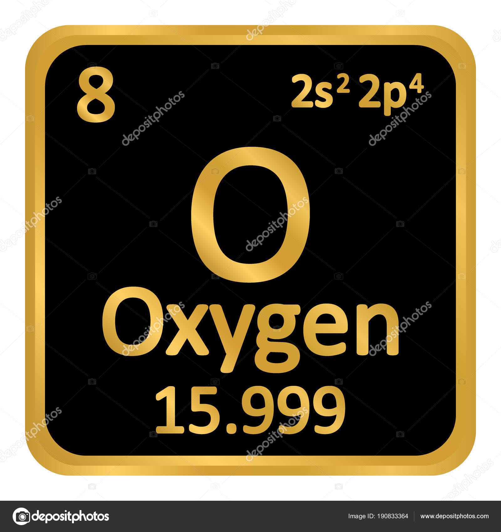 Icono de oxgeno elemento tabla peridica archivo imgenes tabla periodica elemento oxgeno el icono sobre fondo blanco ilustracin de vector vector de konstsem urtaz Images