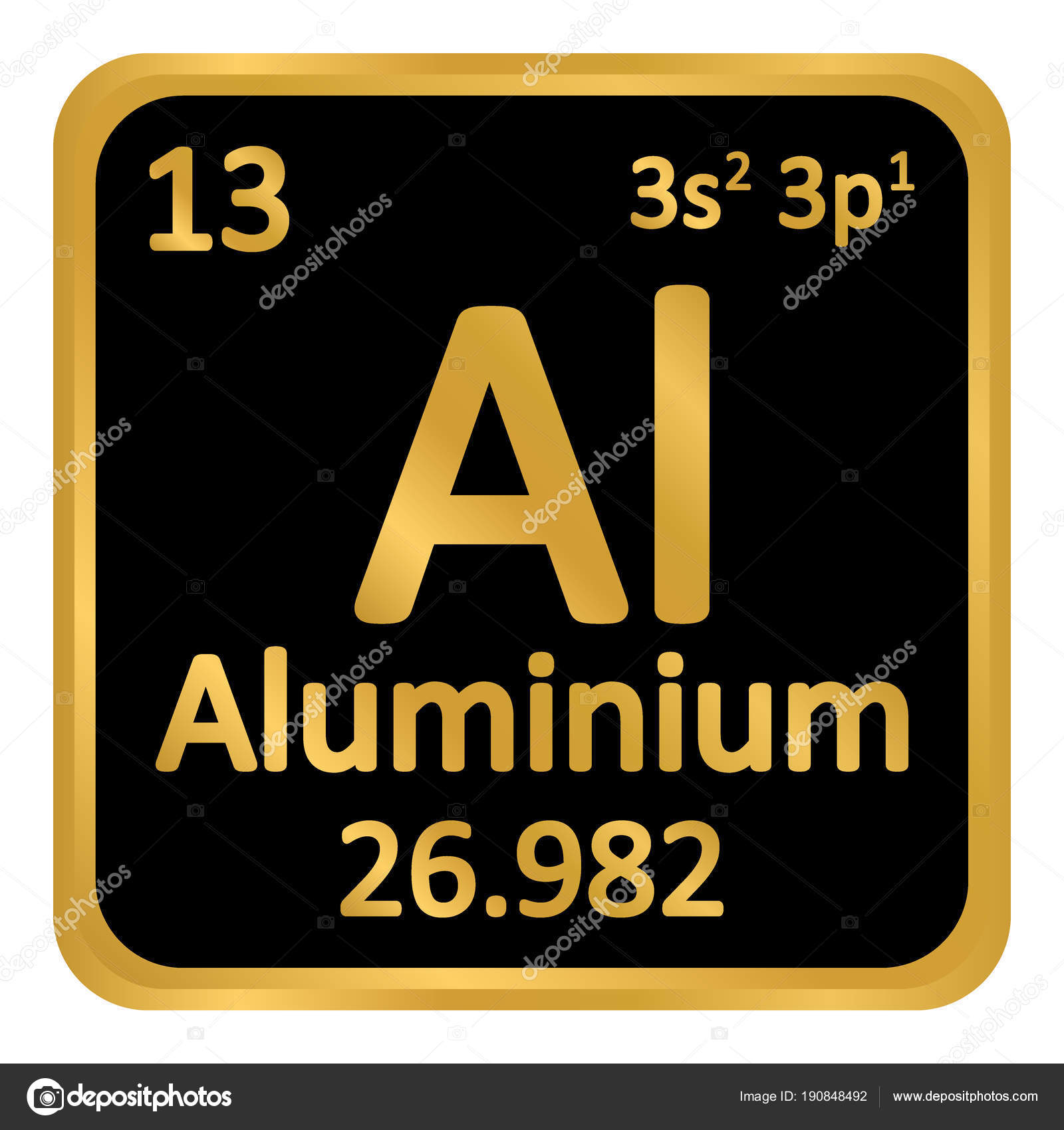 Periodic Table Element Aluminium Icon. U2014 Stock Vector