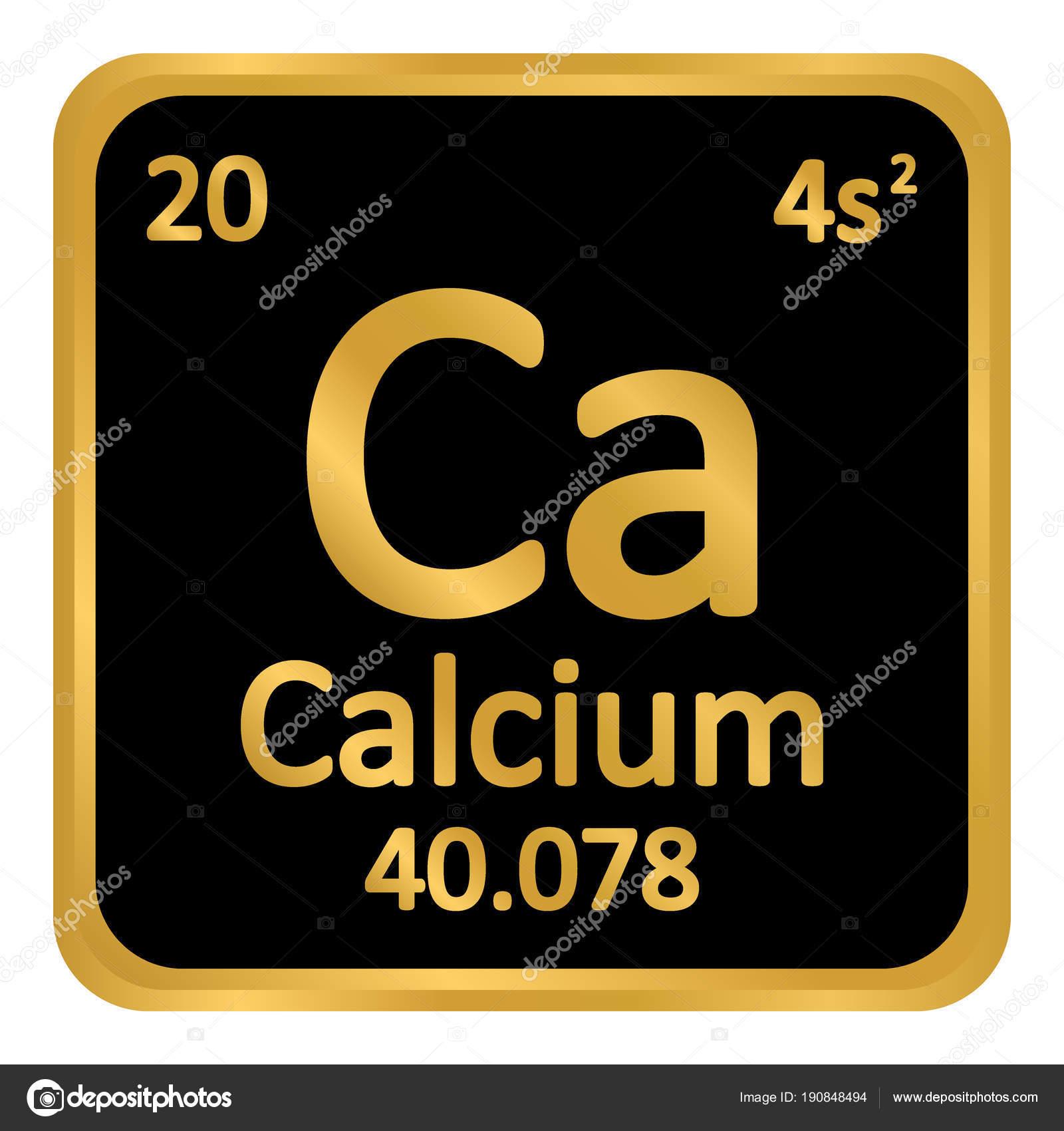 Periodic Table Element Calcium Icon Stock Vector Konstsem