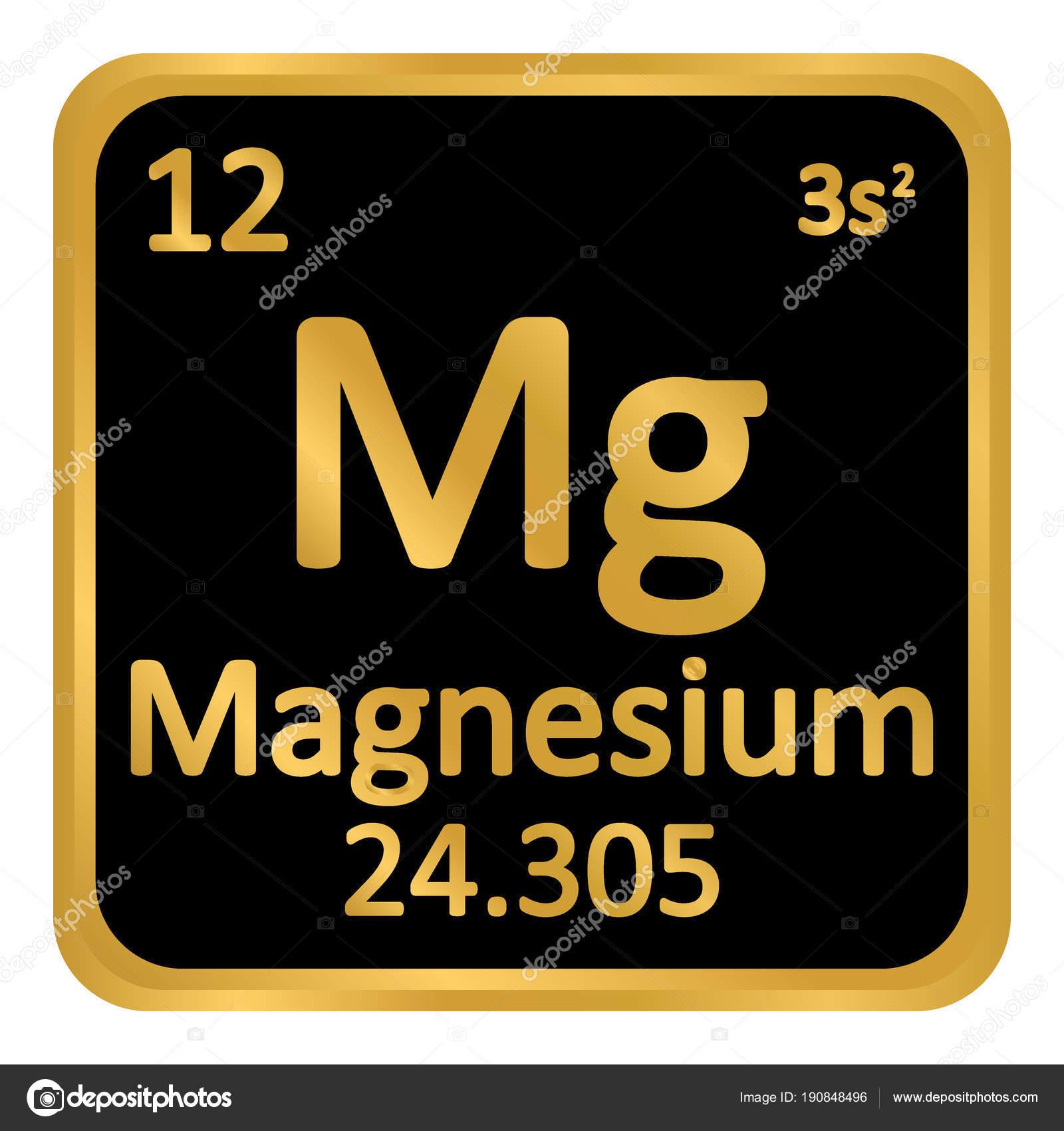 Periodic table element magnesium icon stock vector konstsem periodic table element magnesium icon stock vector urtaz Image collections